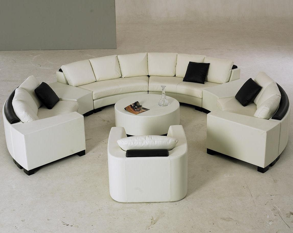 Furniture: Create Your Comfortable Living Room Decor With Round Intended For C Shaped Sofas (View 19 of 20)