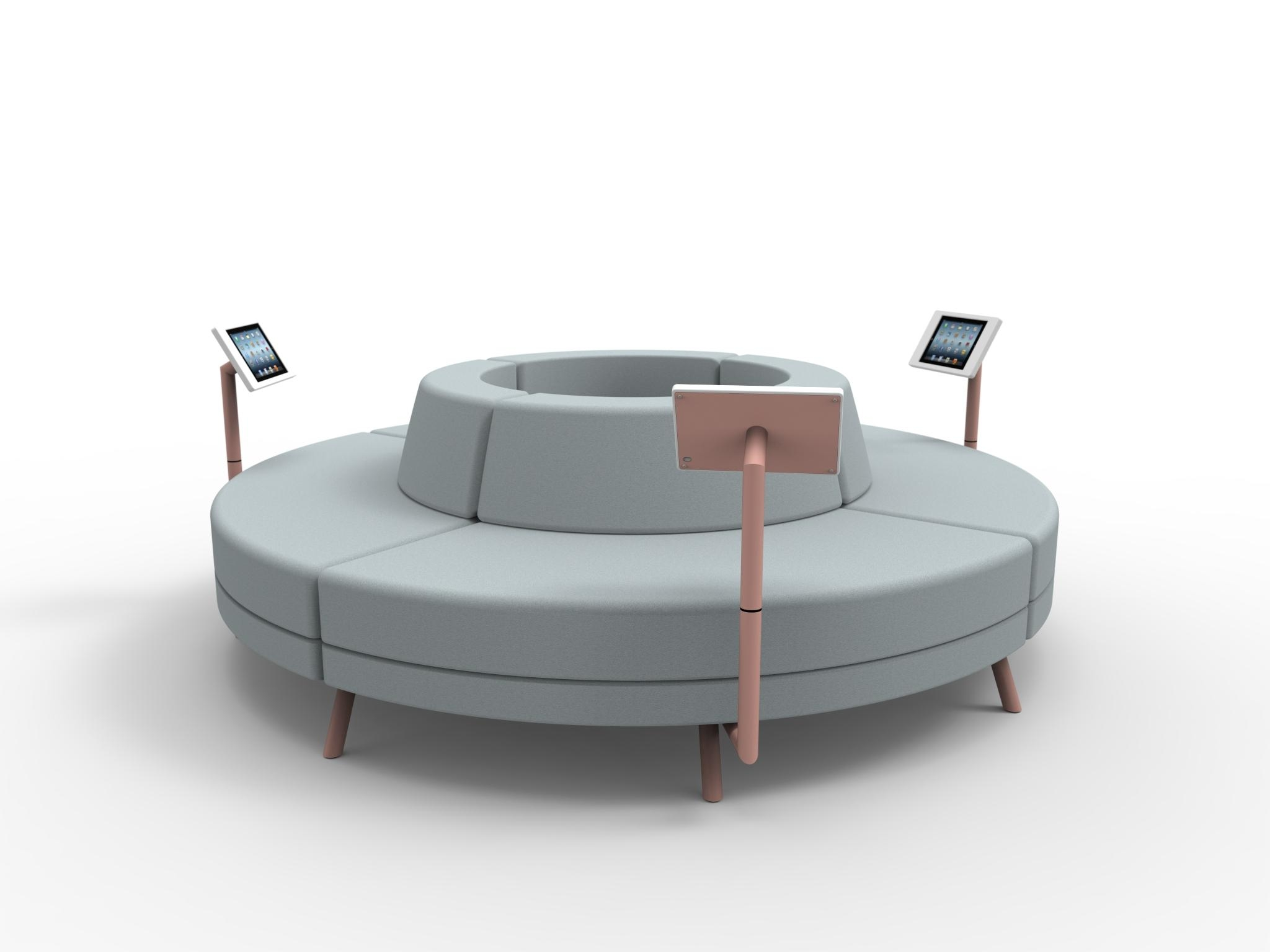 Furniture: Create Your Comfortable Living Room Decor With Round With Regard To Leather Modular Sectional Sofas (Image 6 of 20)