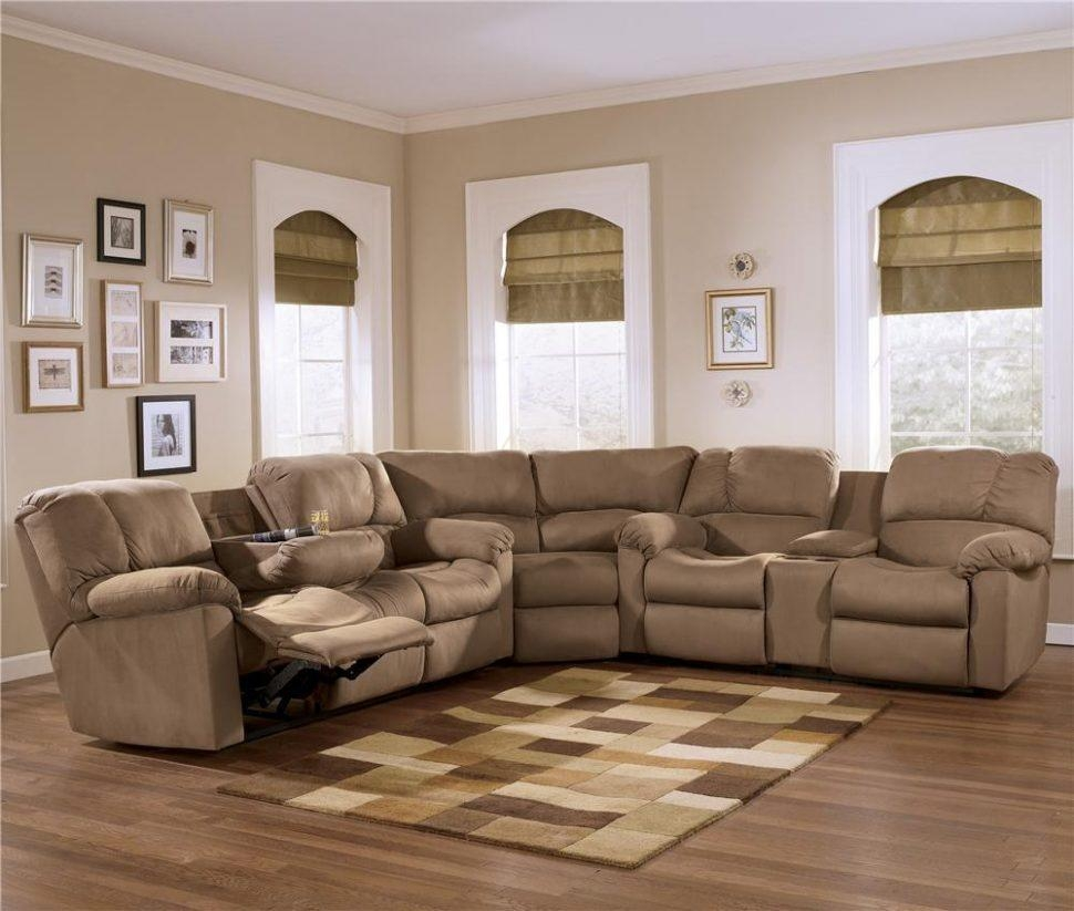 Furniture: Create Your Living Room With Cool Sectional Recliner Inside Jedd Fabric Reclining Sectional Sofa (Image 4 of 20)