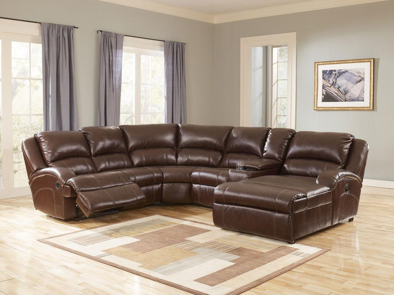 Furniture: Create Your Living Room With Cool Sectional Recliner Intended For Curved Sectional Sofa With Recliner (Image 7 of 15)