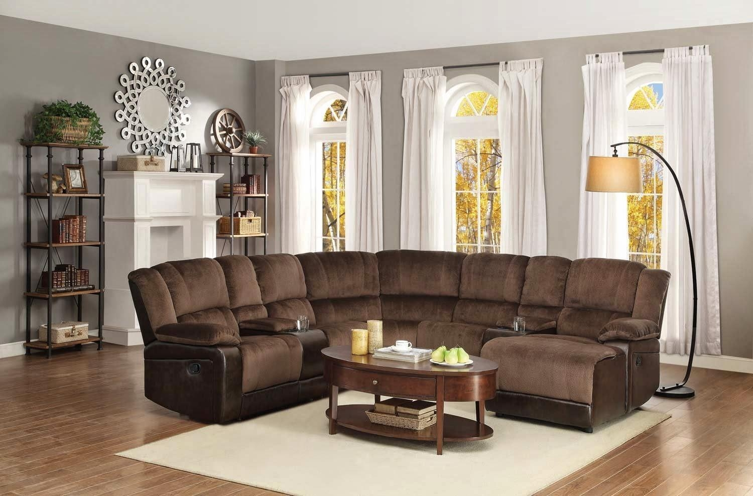Furniture: Create Your Living Room With Cool Sectional Recliner Regarding Curved Recliner Sofa (View 13 of 20)