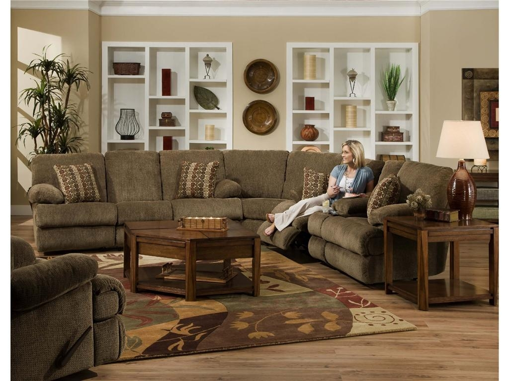 Furniture: Create Your Living Room With Cool Sectional Recliner Throughout Chenille Sectional Sofas With Chaise (View 18 of 20)
