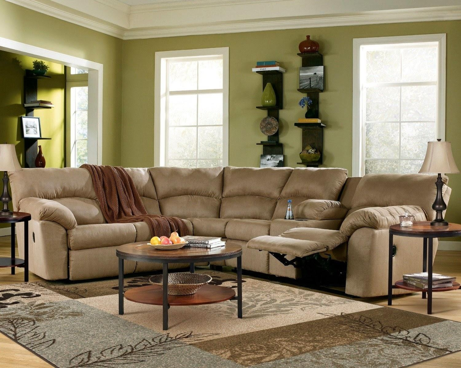 Furniture: Create Your Living Room With Cool Sectional Recliner Throughout Jedd Fabric Reclining Sectional Sofa (Image 5 of 20)