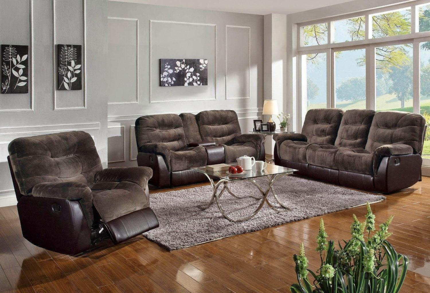 Furniture: Create Your Living Room With Cool Sectional Recliner With Modern Microfiber Sectional Sofa (Image 11 of 20)