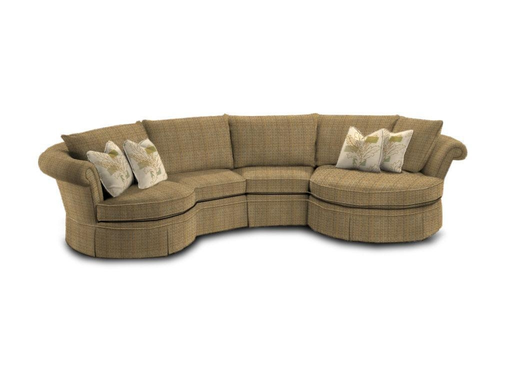 Furniture: Curved Leather Sectionals With Curved Couches Inside Circular Sectionals (Image 11 of 15)
