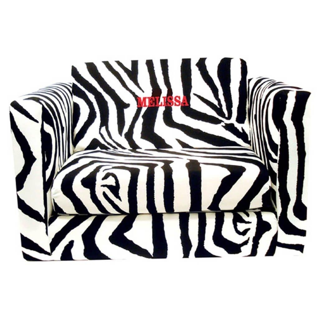 Furniture: Cute Mermaid Kids Sofa Bed And Pink Sofa Bed For Girls Within Kids Sofa Chair And Ottoman Set Zebra (Image 9 of 20)