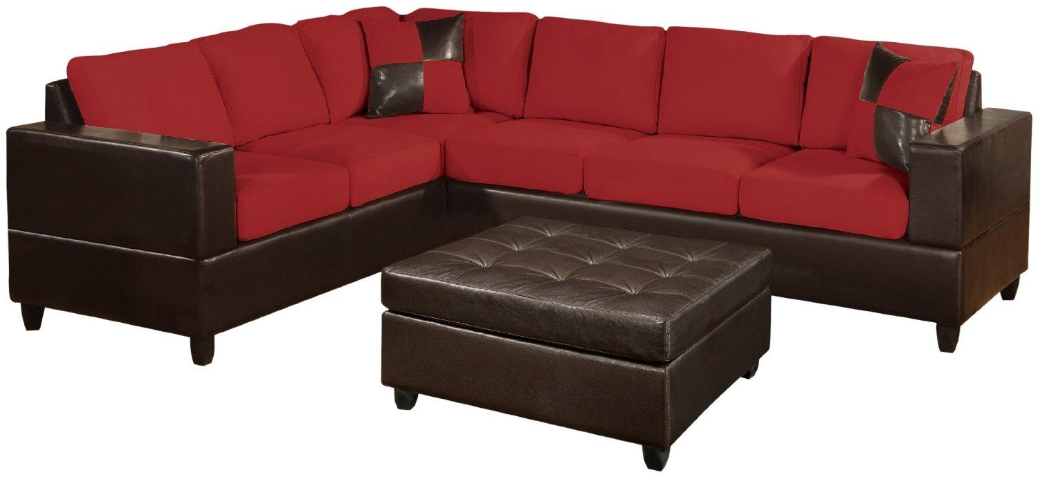 Furniture: Elegant Cheap Sectional Sofas In Red And Black Plus Regarding Cheap Red Sofas (View 12 of 20)