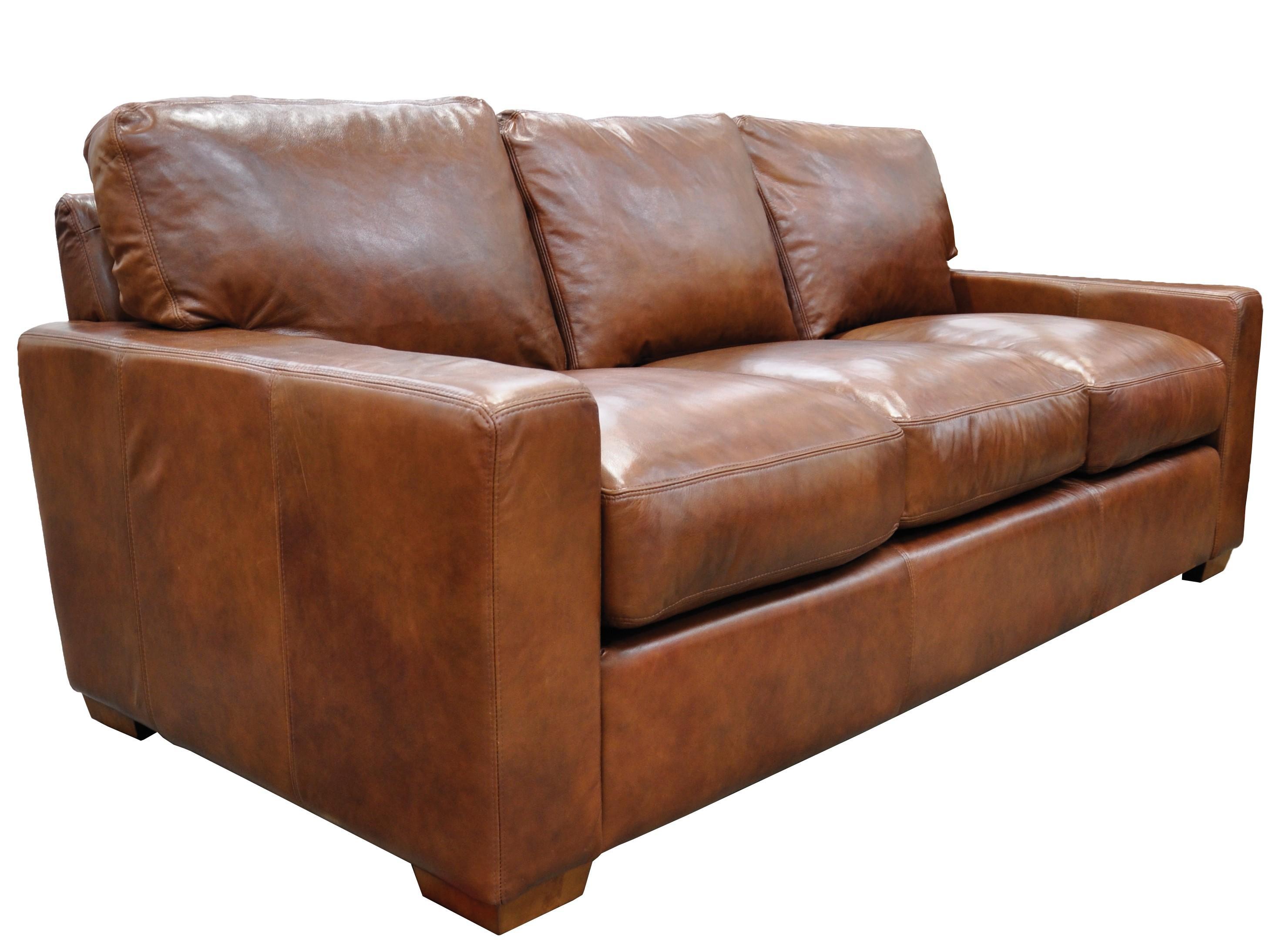 Furniture: Elegant Full Grain Leather Sofa For Luxury Living Room Inside Aniline Leather Sofas (View 12 of 20)