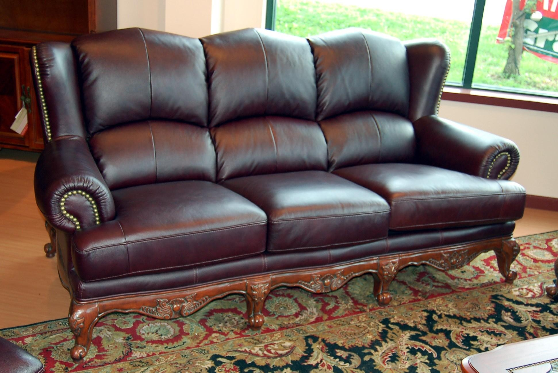 20 collection of full grain leather sofas sofa ideas for Elegant living room furniture