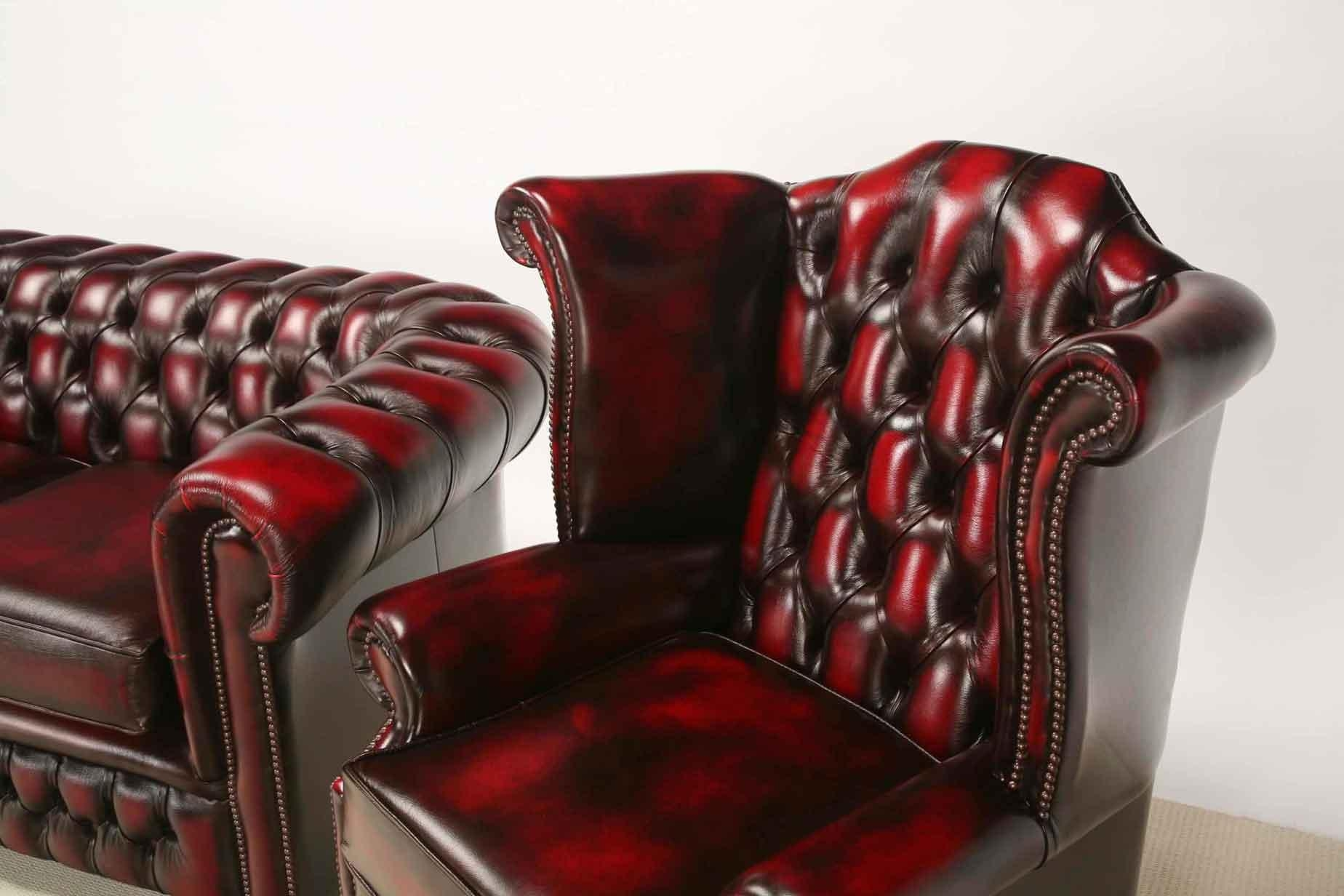 Furniture: Enchanting Chesterfield Couch For Living Room Furniture Throughout Red Chesterfield Chairs (Image 13 of 20)