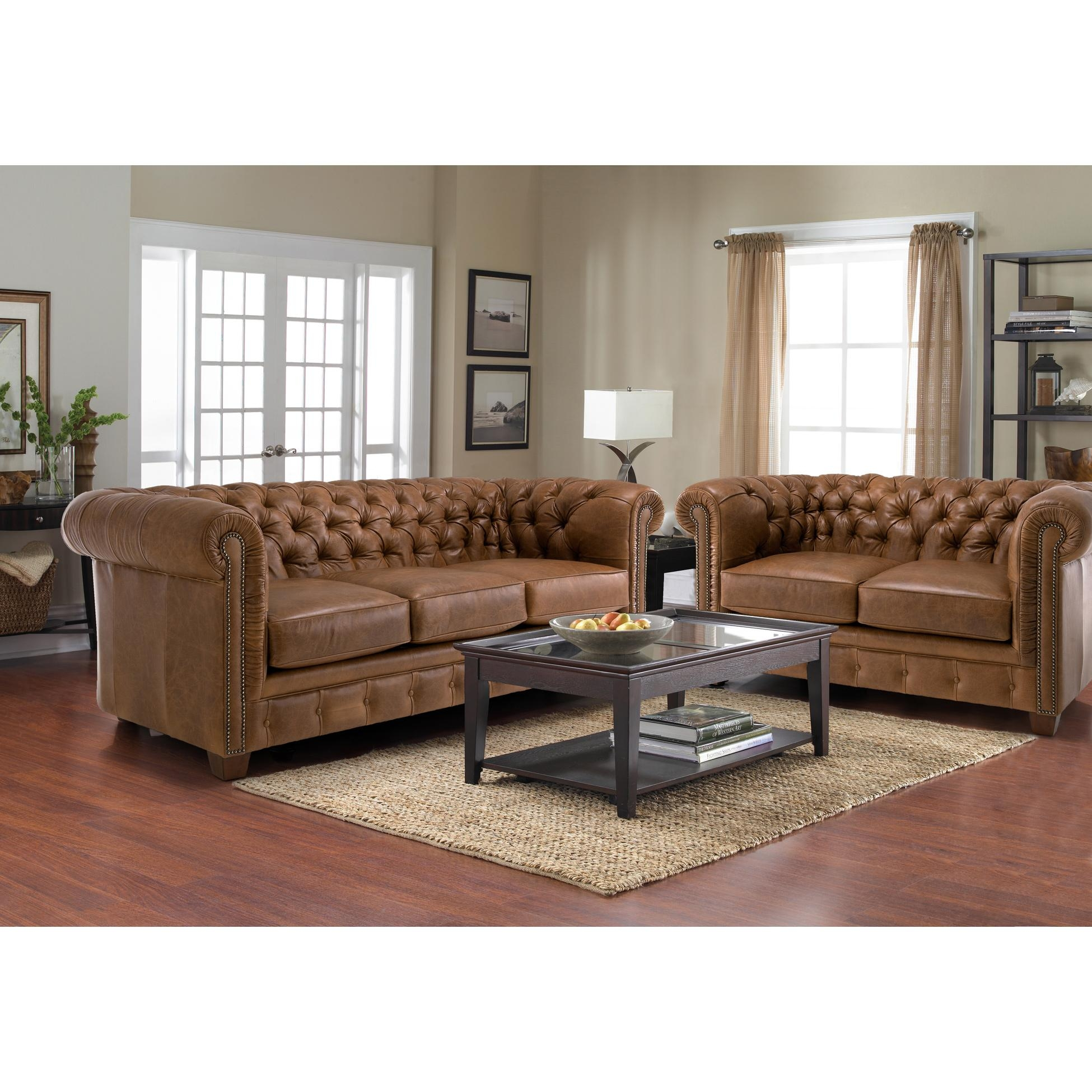 Furniture: Enchanting Chesterfield Couch For Living Room Furniture Within Brown Tufted Sofas (Image 10 of 20)