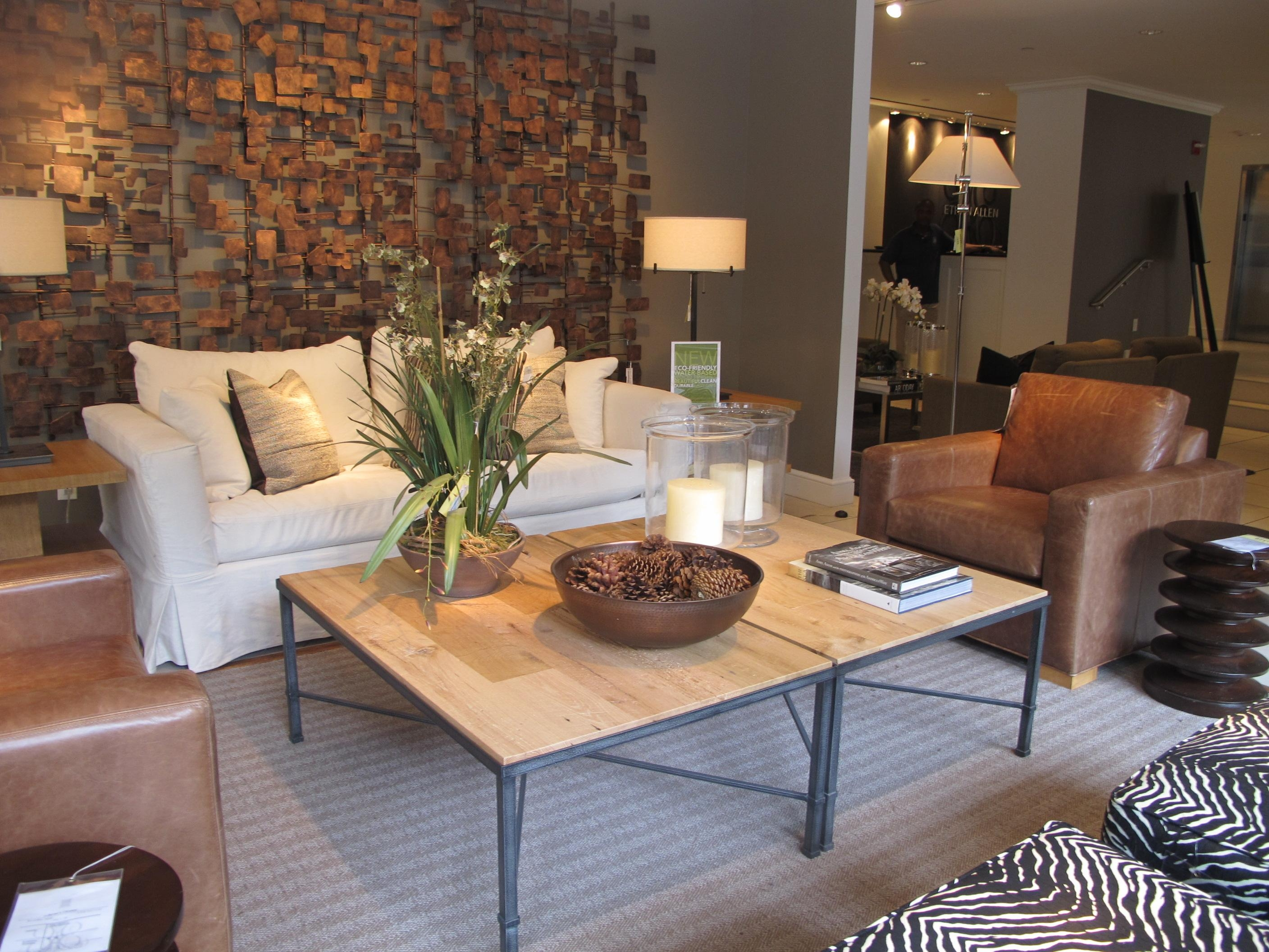 Furniture: Ethan Allen Leather Furniture For Excellent Living Room Inside Ethan Allen Sofas And Chairs (Image 9 of 20)