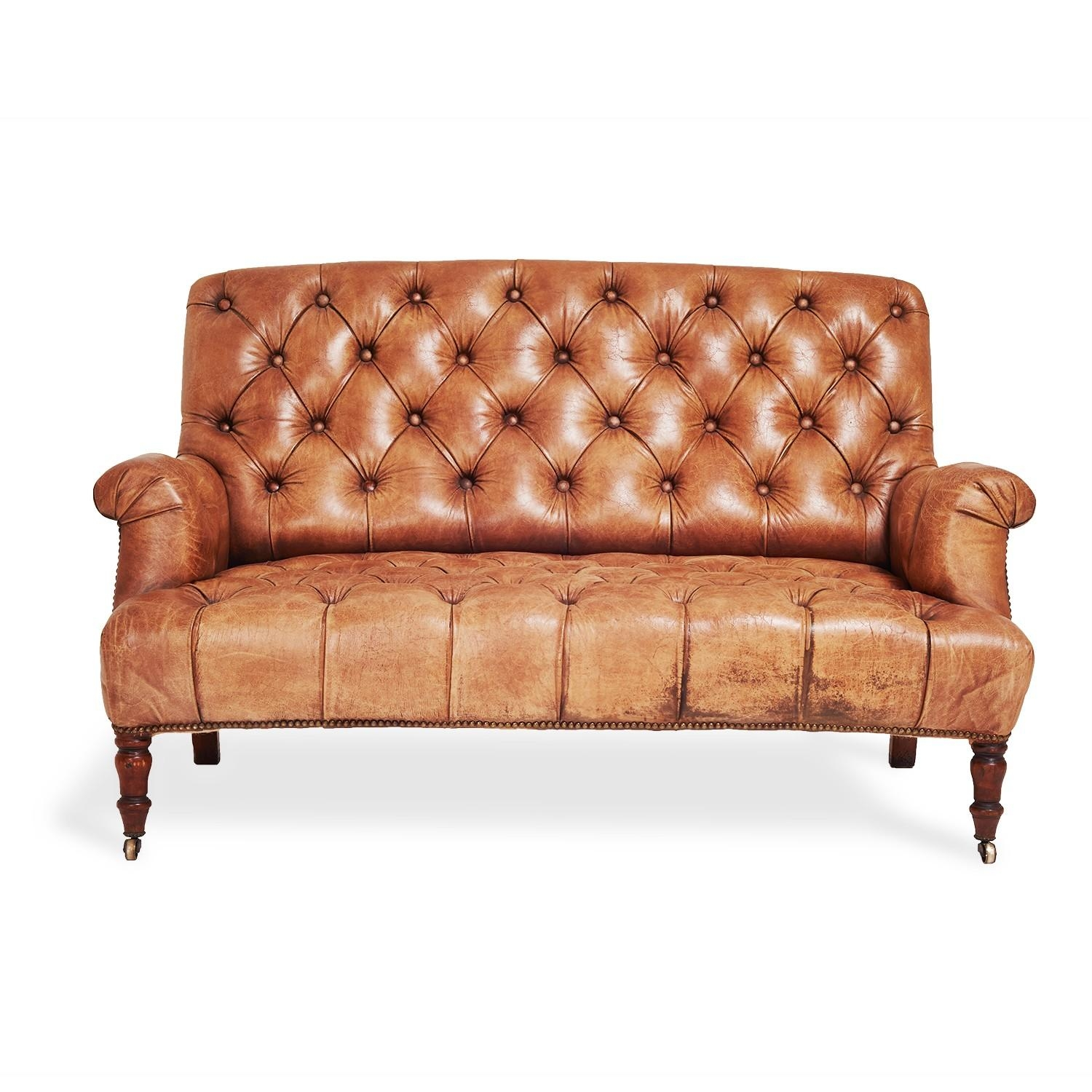 Furniture: Exquisite Comfort With Leather Tufted Sofa With Brown Leather Tufted Sofas (Image 9 of 20)