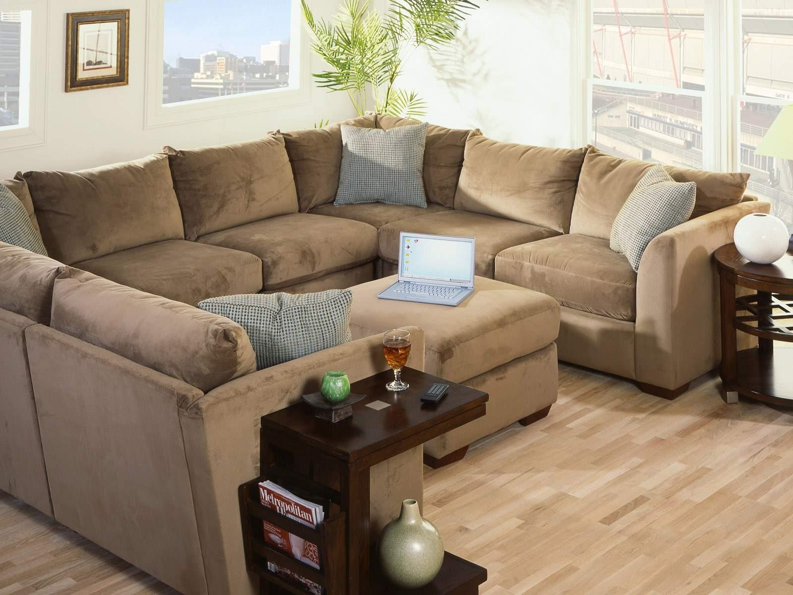 Furniture: Extra Large Sectional Sofa | Huge Leather Sectional Pertaining  To Giant Sofa Beds (