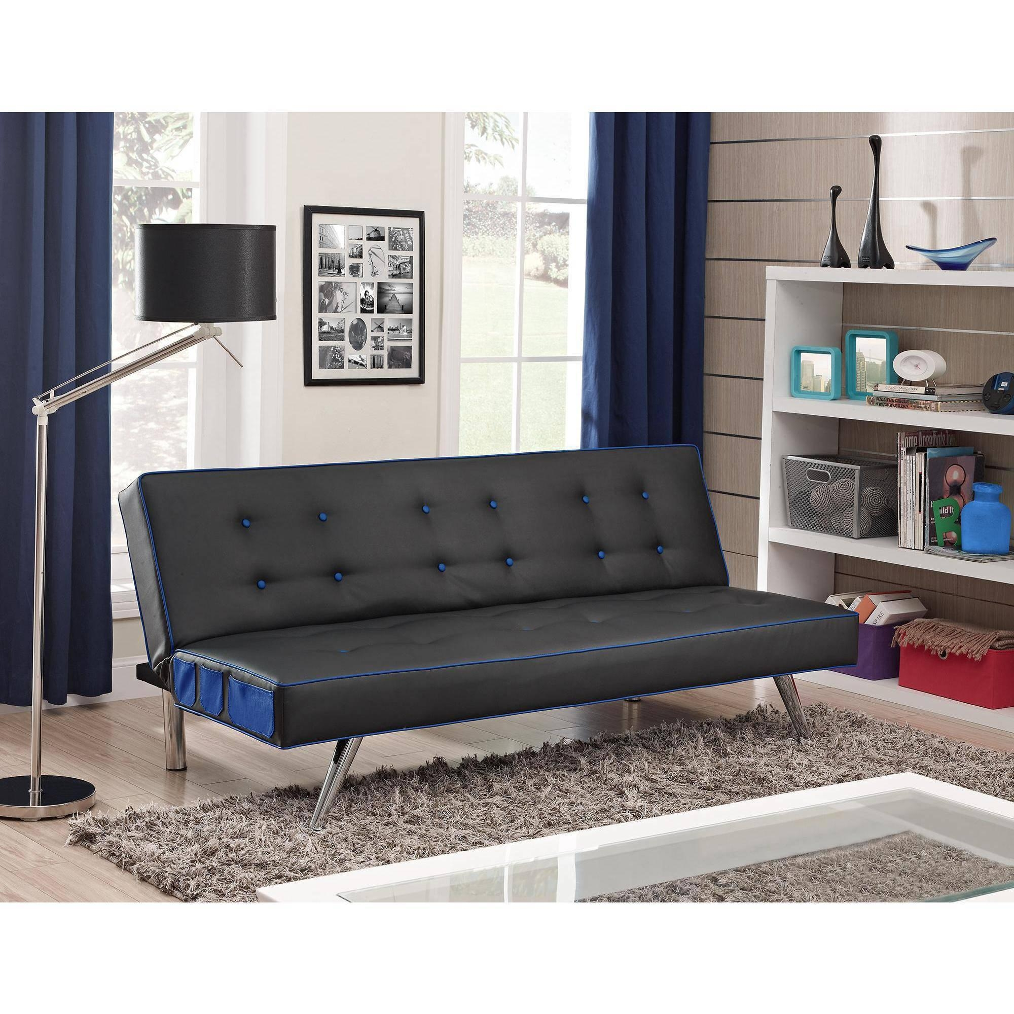Furniture: Fabulous Faux Leather Futon For Living Room Decor With Regard To Faux Leather Futon Sofas (View 13 of 20)