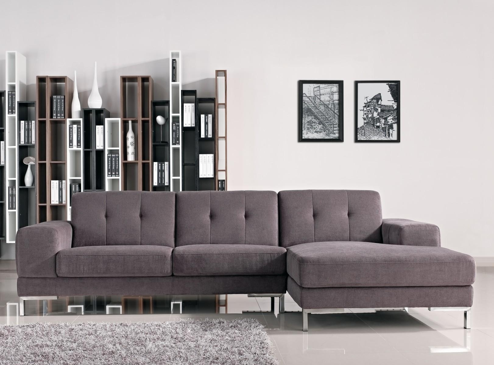 Furniture: Fabulous L Shaped Sofa For Modern Living Room In Tufted Sectional Sofa With Chaise (Image 3 of 20)
