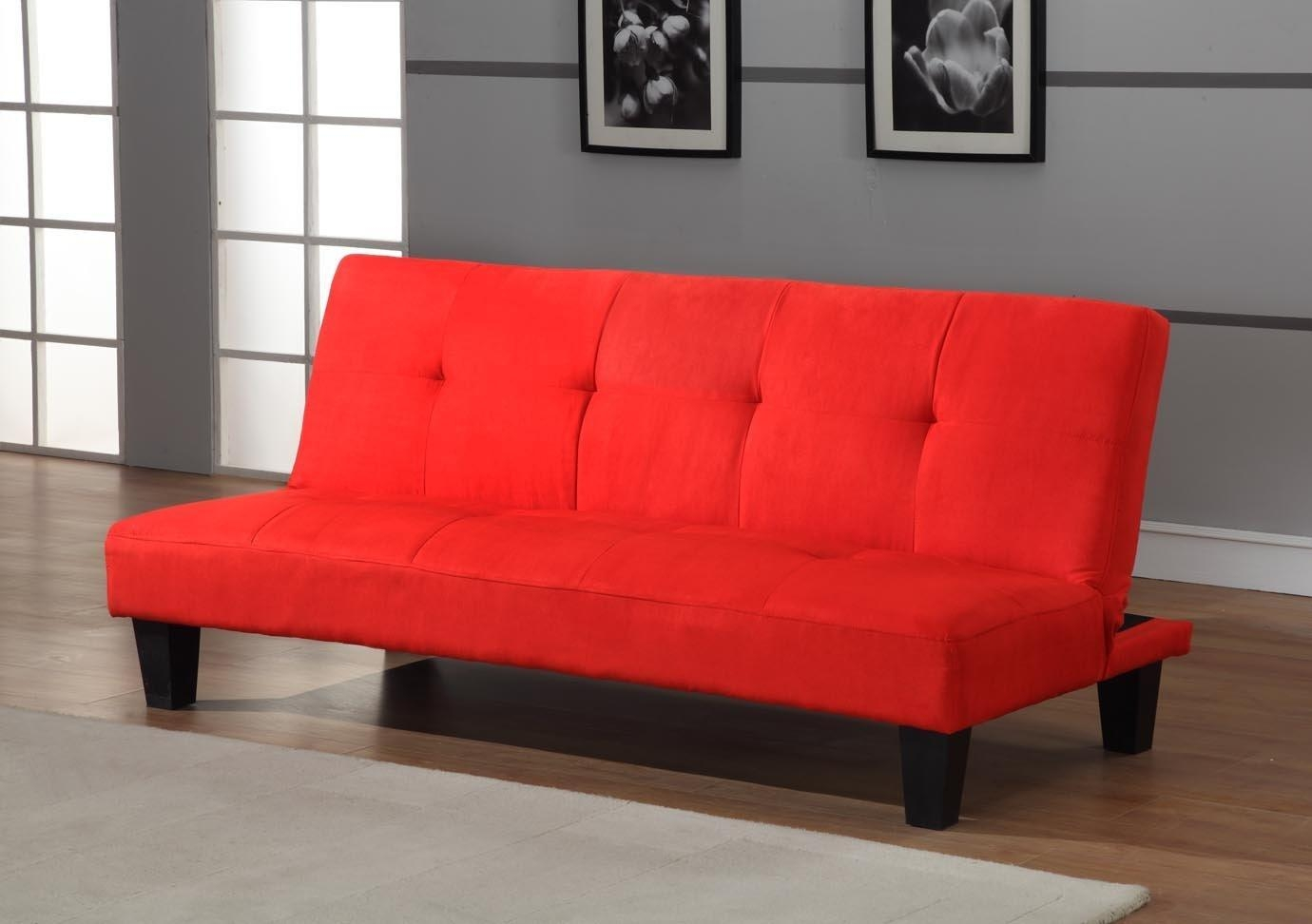 Furniture: Fancy Kebo Futon Sofa Bed For Living Room Furniture Intended For Small Black Futon Sofa Beds (Image 4 of 20)