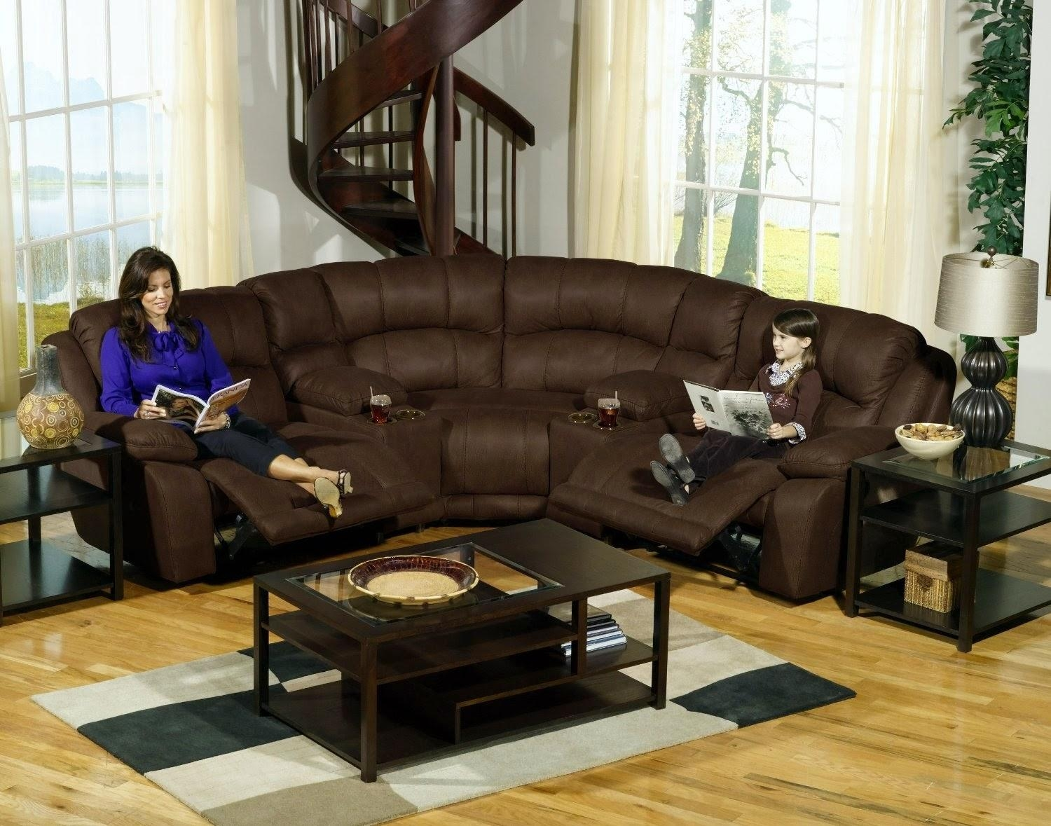 Furniture: Fantastic Sectional Couches With Recliners For Your With Regard To Small Microfiber Sectional (Image 7 of 20)