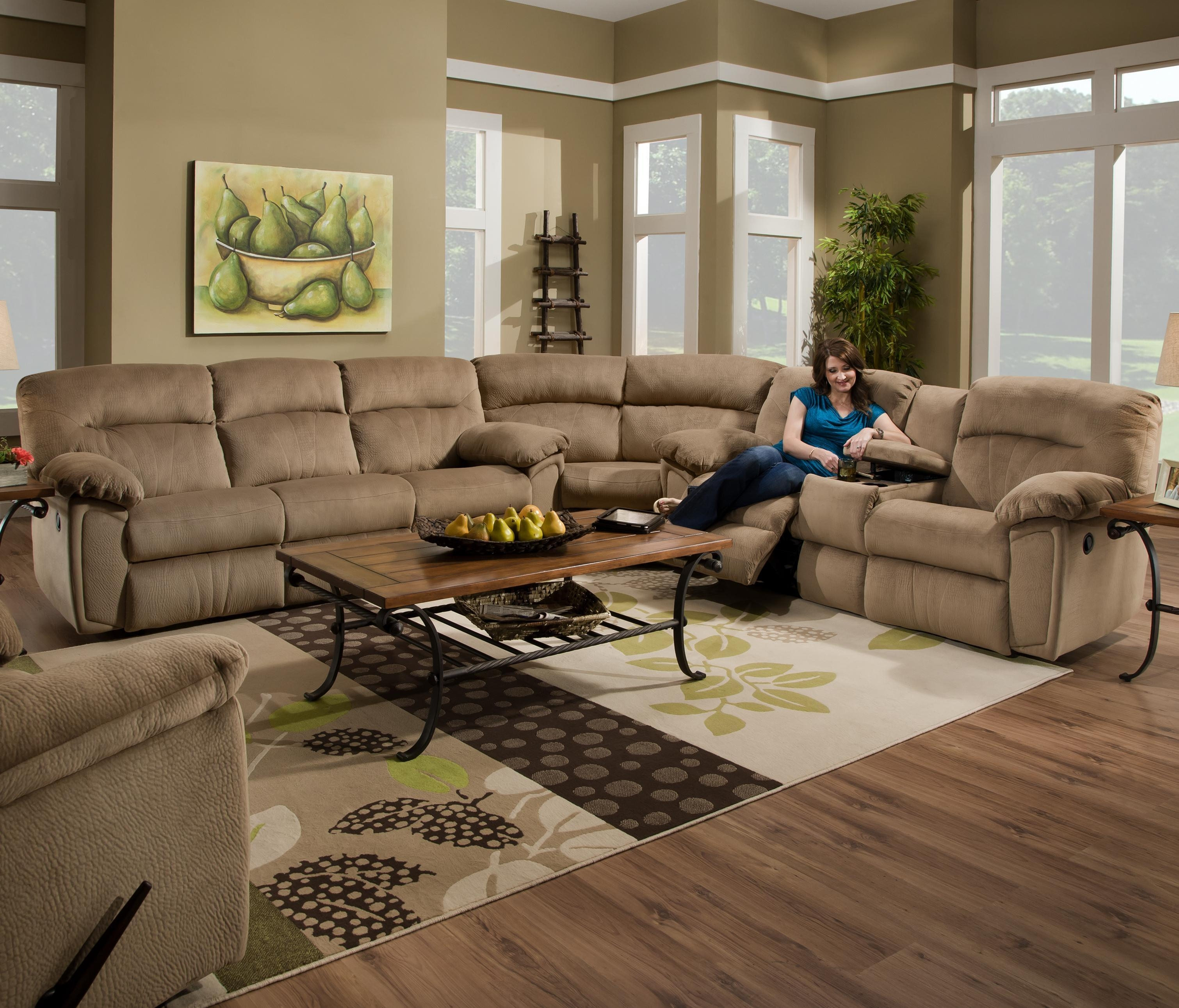 Furniture: Flex Steel Couch | Broyhill Recliner Sofas | Broyhill Sofa With Regard To Broyhill Reclining Sofas (Image 16 of 20)