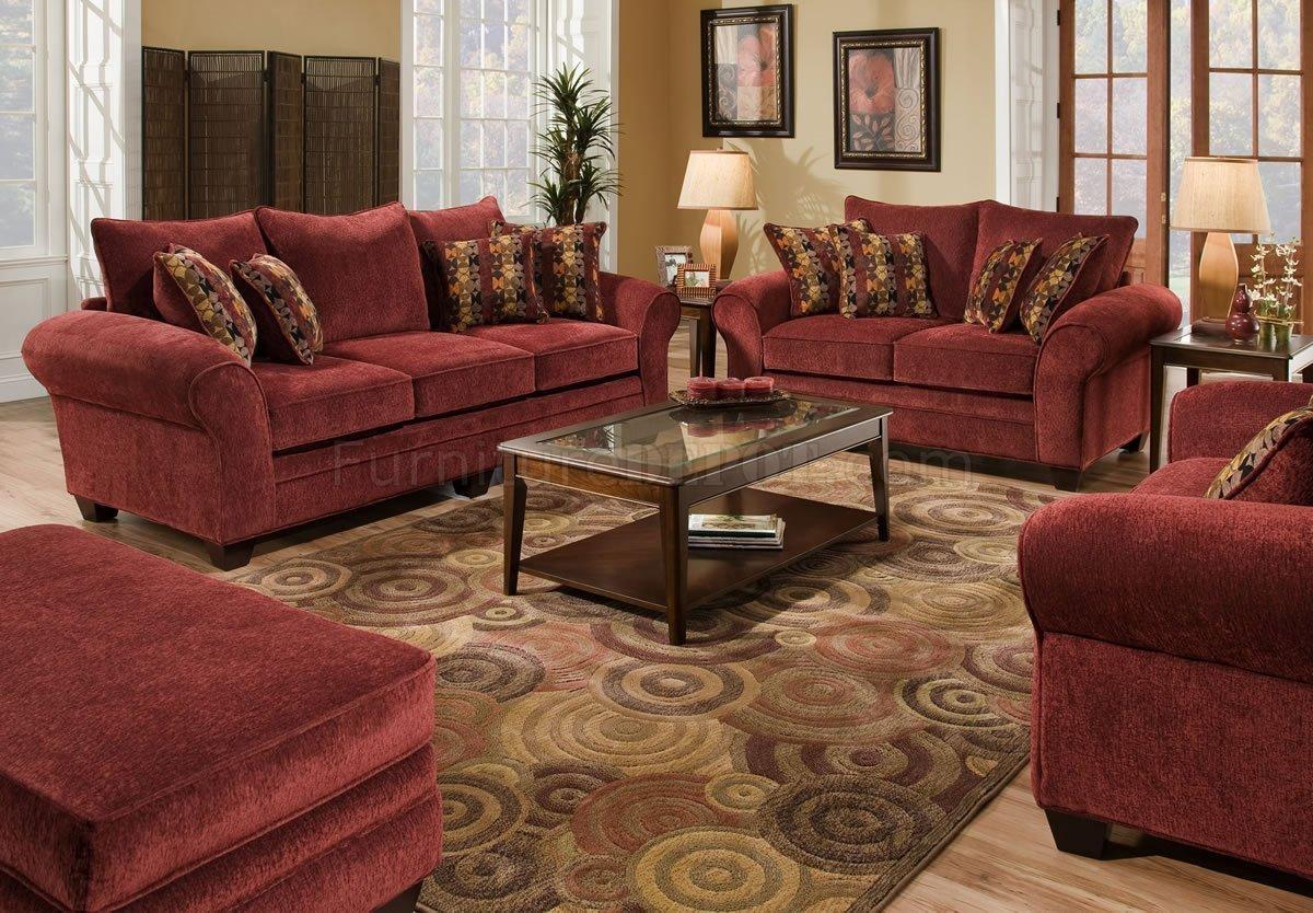 Furniture: Gingham Couch | Burgundy Sofa | Red Velvet Sofas For Gingham Sofas (Image 2 of 20)