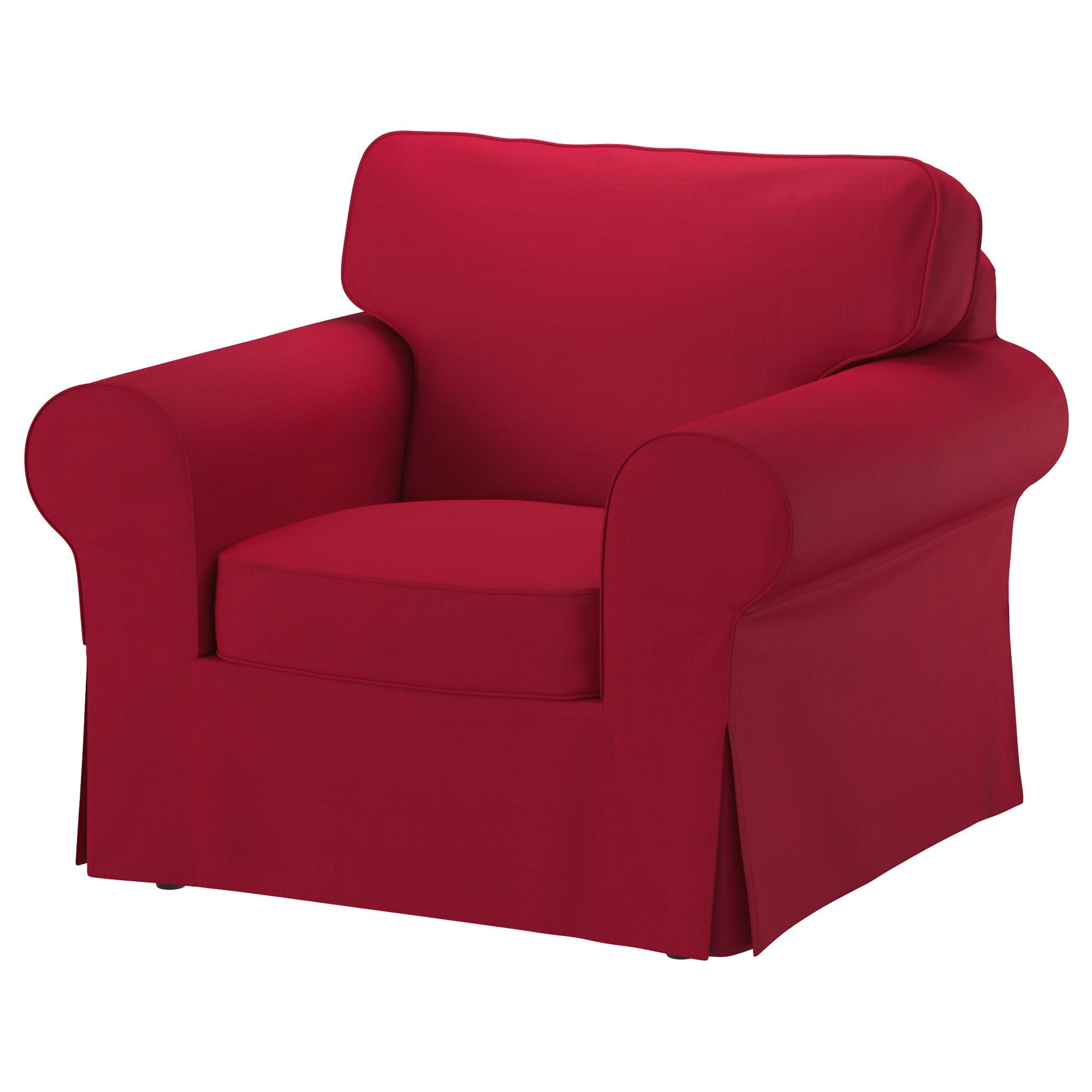 Furniture: Give Your Sofa Fresh New Look With Ikea Ektorp Chair With Regard To Red Sofas And Chairs (Image 6 of 20)
