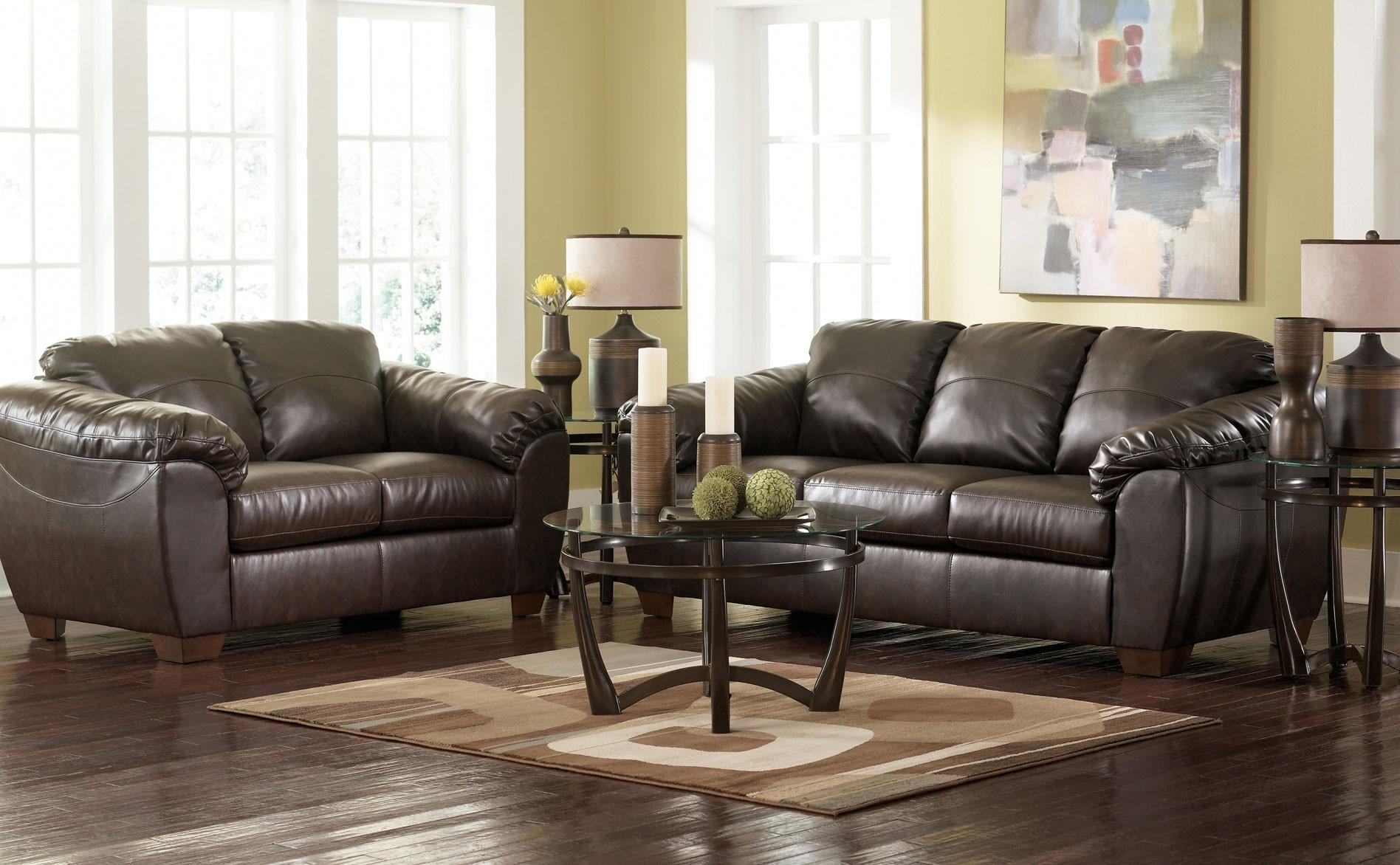 Furniture: Gray Leather Reclining Sofa | Ashley Furniture Loveseat Pertaining To Sectional Sofas Ashley Furniture (Image 8 of 20)