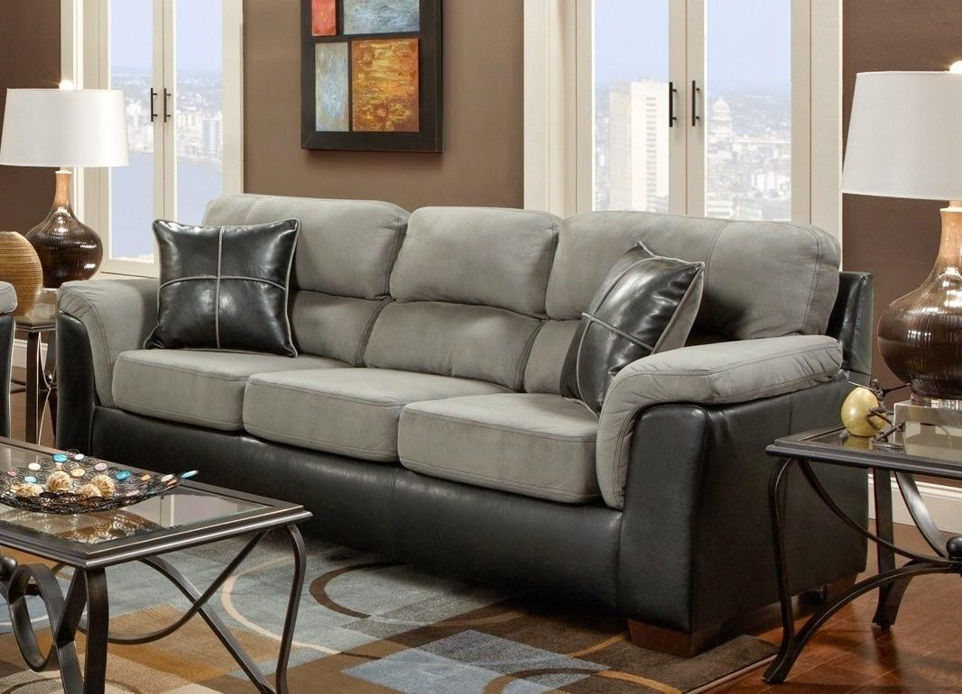 Furniture: Gray Microfiber Couch | Micro Sectional Sofa In Green Microfiber Sofas (Image 5 of 20)