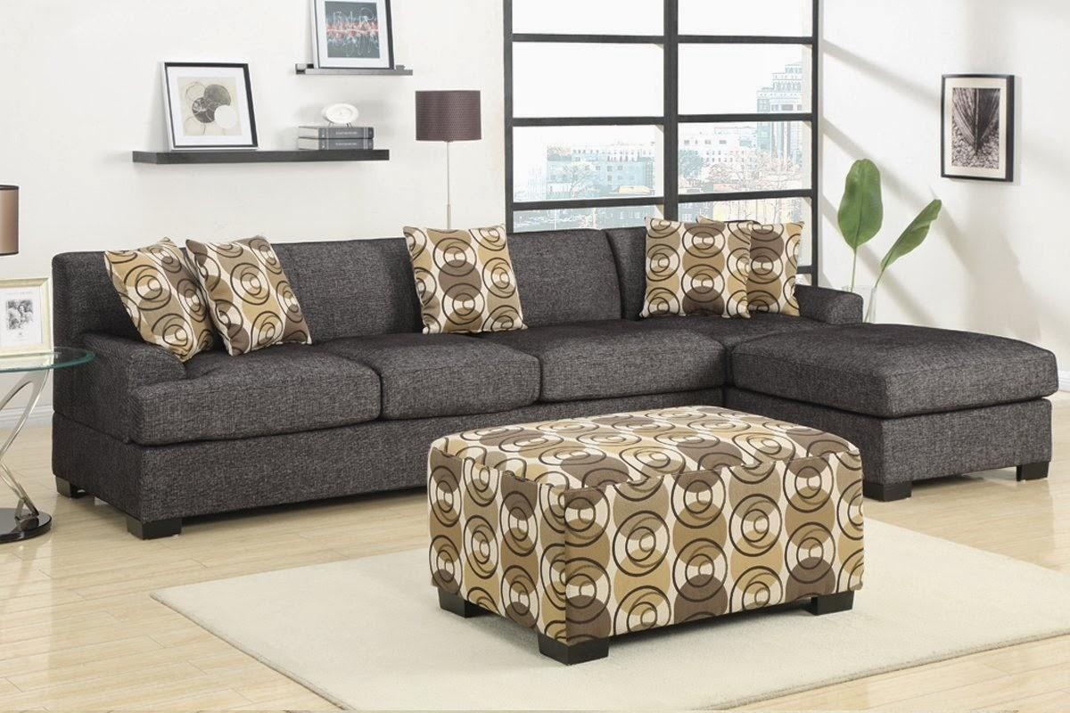 Furniture: Gray Microfiber Couch | Micro Sectional Sofa Intended For Microfiber Suede Sectional (Image 6 of 20)