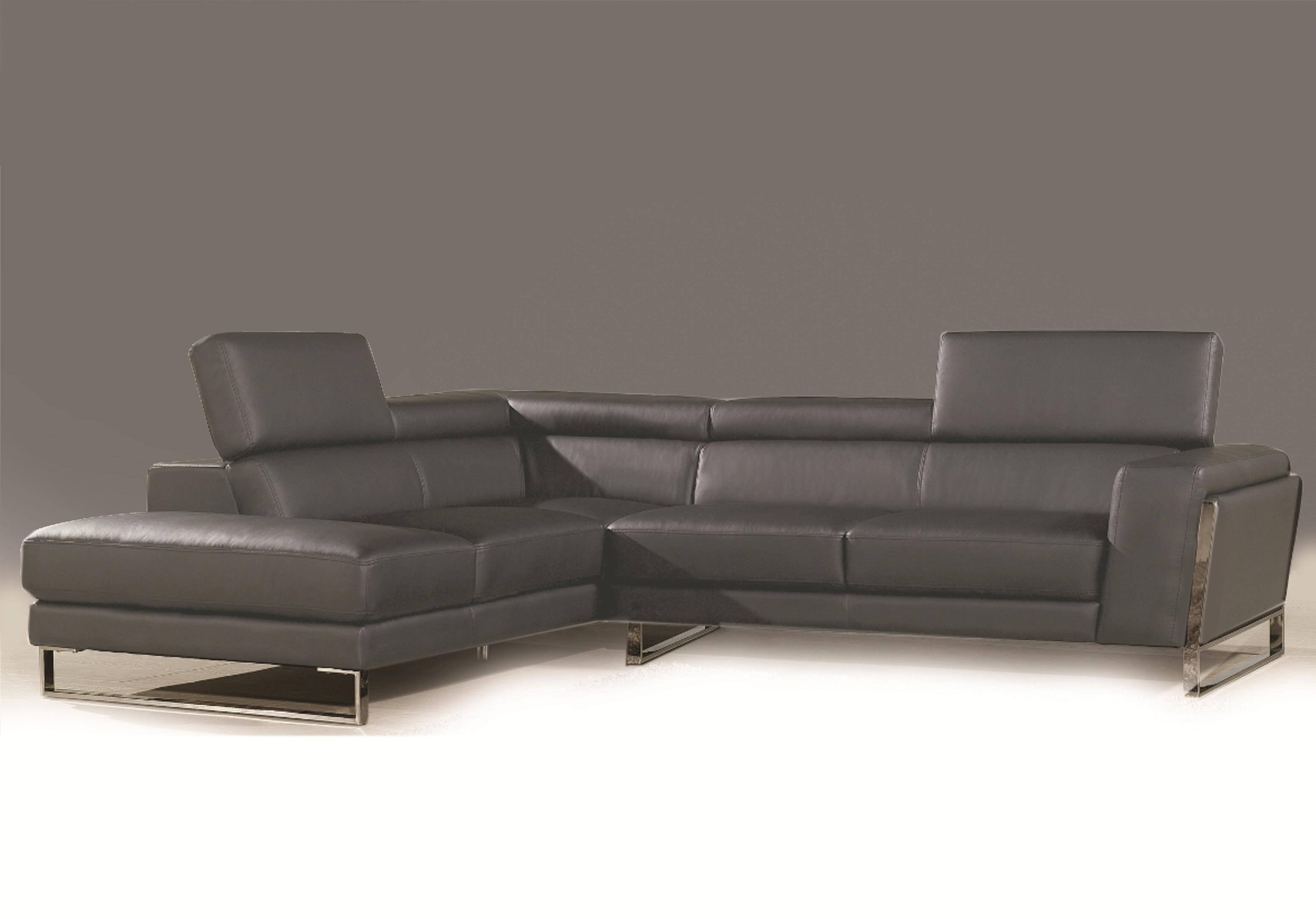 Furniture: Gray Walls Brown Couch | Gray Microfiber Couch Regarding Charcoal Grey Leather Sofas (View 14 of 20)