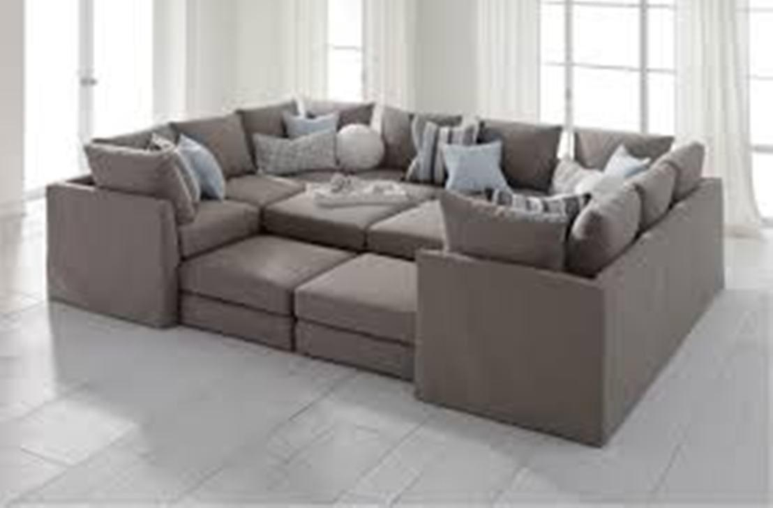 Furniture: Grey Sectional Sofa | Tufted Sectional Sofa | Sectional Throughout Tufted Sectional Sofa With Chaise (Image 4 of 20)