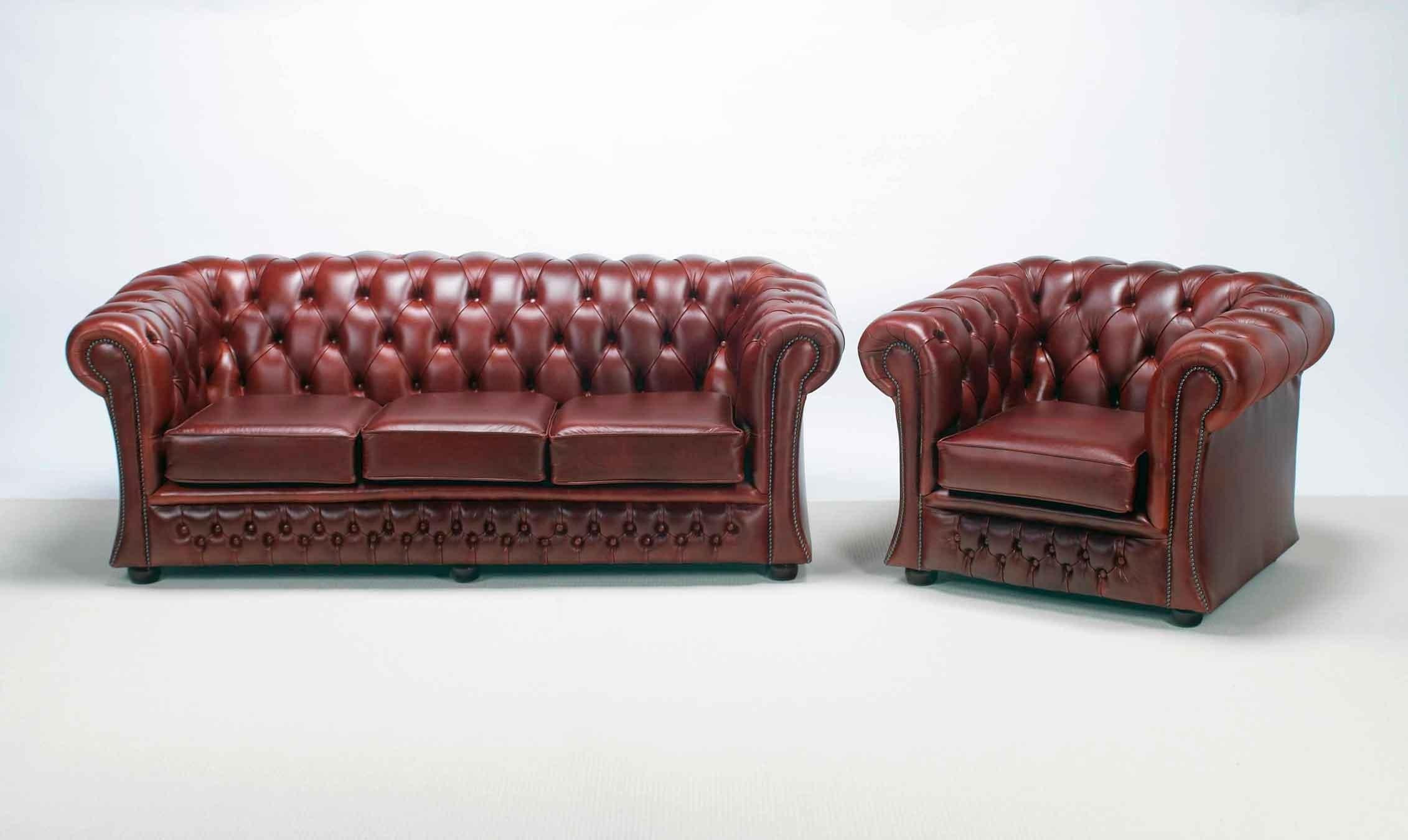 Furniture: Have A Luxury Living Room With The Elegant Chesterfield Within Chesterfield Sofa And Chairs (View 5 of 20)