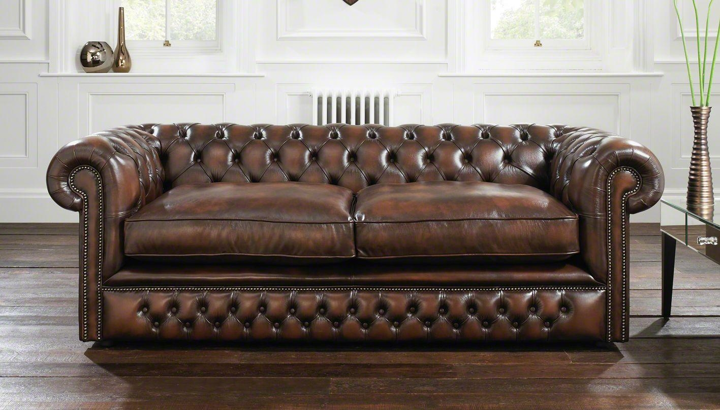 Furniture Home: Brown Tufted Leather Sofa Modern Elegant 2017 Pertaining To Brown Leather Tufted Sofas (View 5 of 20)