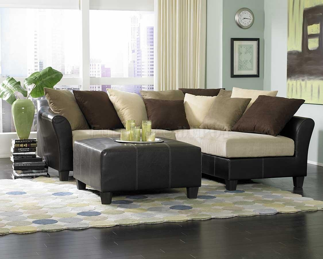 Furniture Home: Furniture U Shaped Microfiber Sectional Sofa With Pertaining To Microsuede Sectional Sofas (Image 4 of 20)