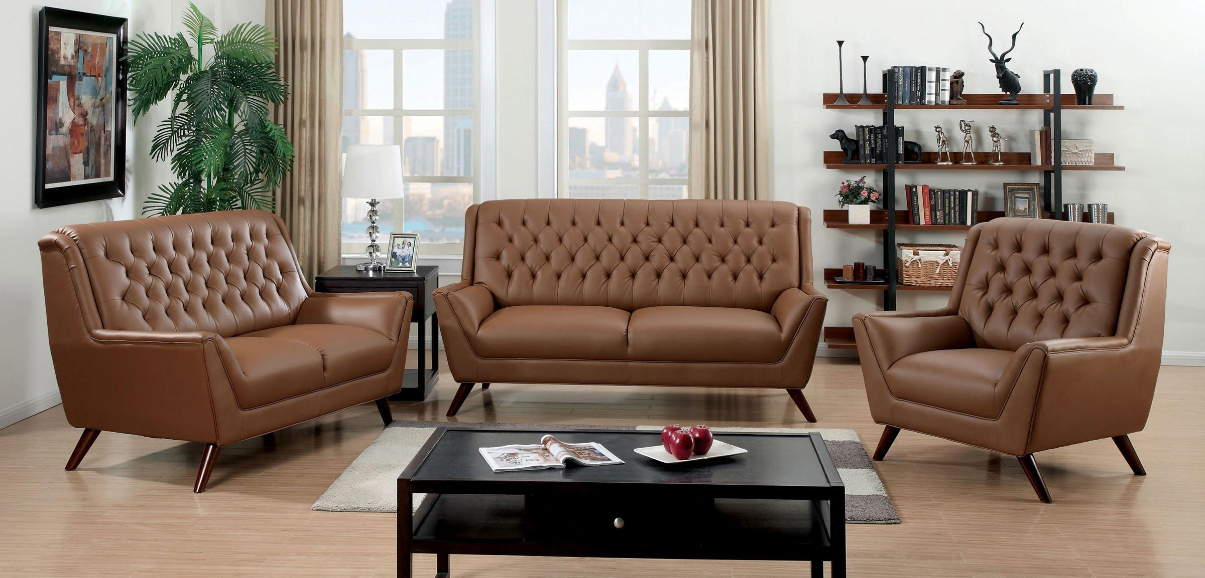Furniture Home: Italian Navy Leather Tufted Sofa Second Hand With Brown Tufted Sofas (Image 9 of 20)