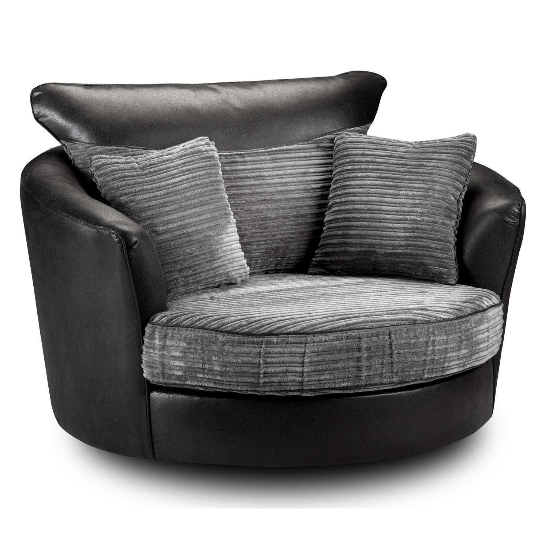 Furniture Home : Markus Swivel Chair Glose Black 0399201 Pe563352 Throughout Cuddler Swivel Sofa Chairs (Image 7 of 20)