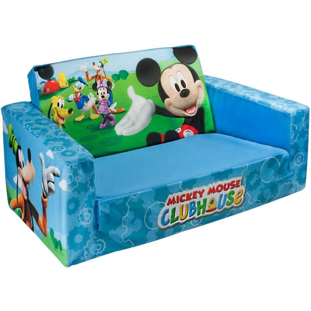 Furniture Home: Marshmallow 2 In 1 Flip Open Sofa Disney Mickey Regarding Flip Open Kids Sofas (Image 6 of 20)