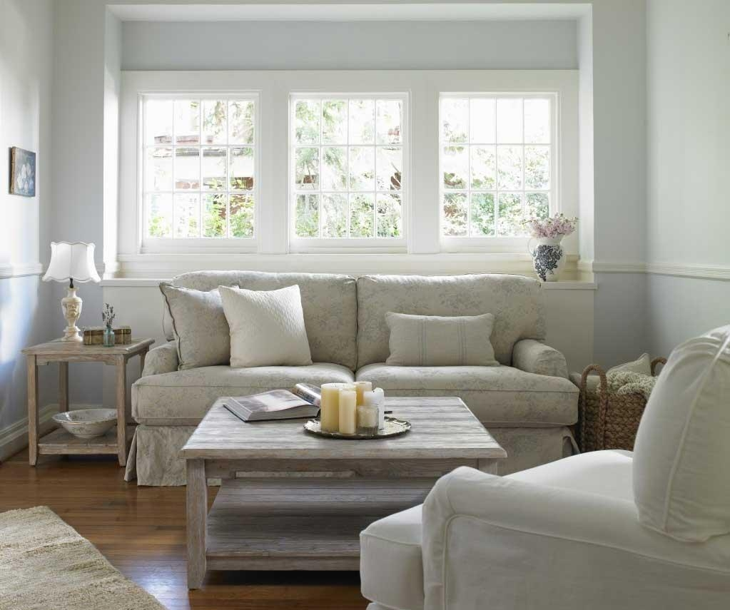 Furniture Home: Shabby Chic Style Living Room With White Sectional Regarding Shabby Chic Sectional Sofas (View 15 of 20)