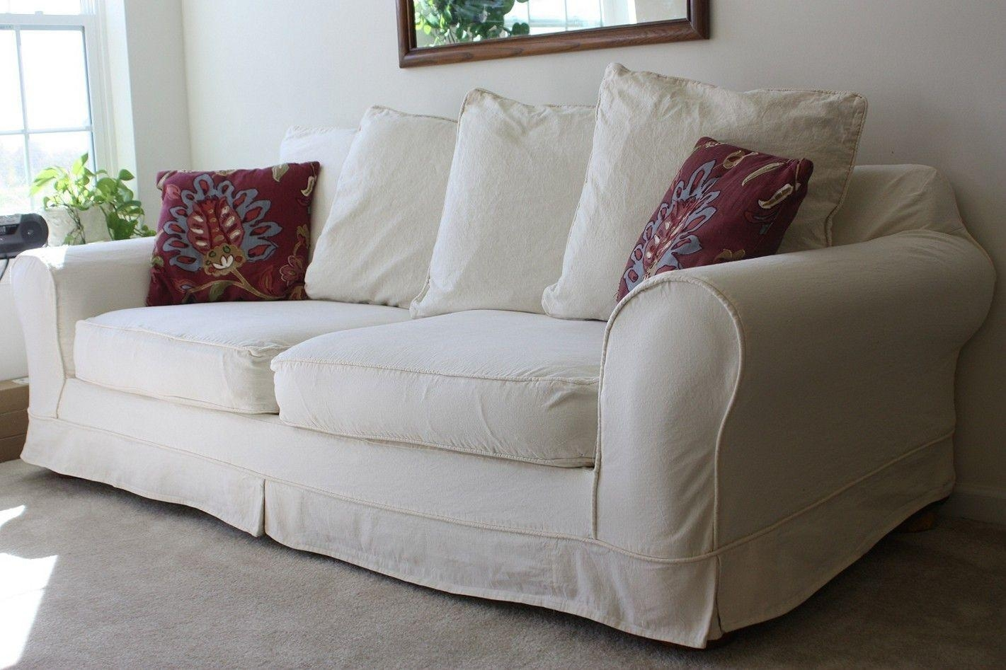 Furniture Home: Slipcover Sofa Shabby Chic Sofa Slipcovers Sure Intended For Shabby Chic Sofa Slipcovers (View 7 of 20)