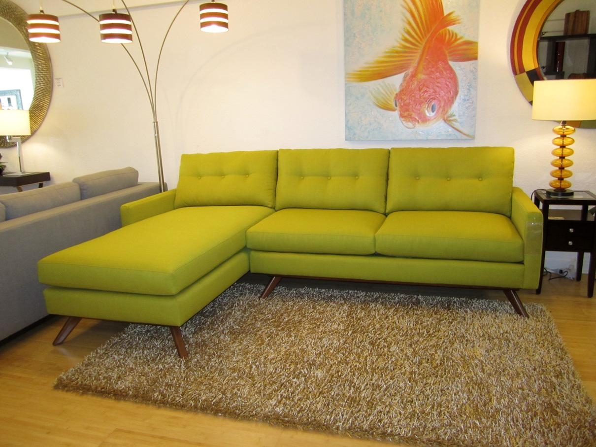 Furniture Home: Sofas Sectionals Sophisticated Ethan Allen Inside Green Sectional Sofa With Chaise (Image 5 of 15)