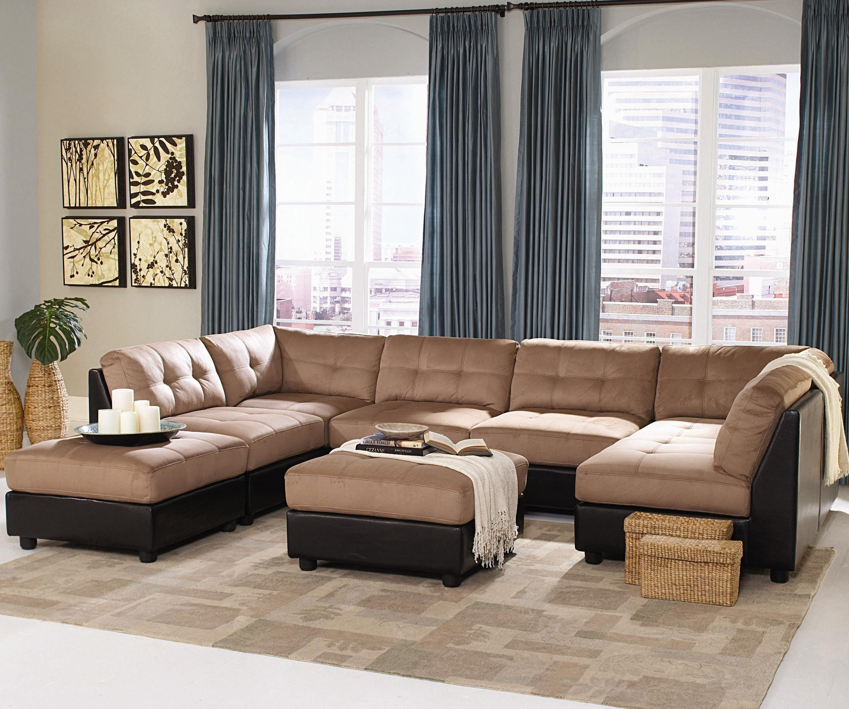 Furniture Home: The Most Popular Sears Sectional Sofa 53 With For Modern Microfiber Sectional Sofa (Image 10 of 20)