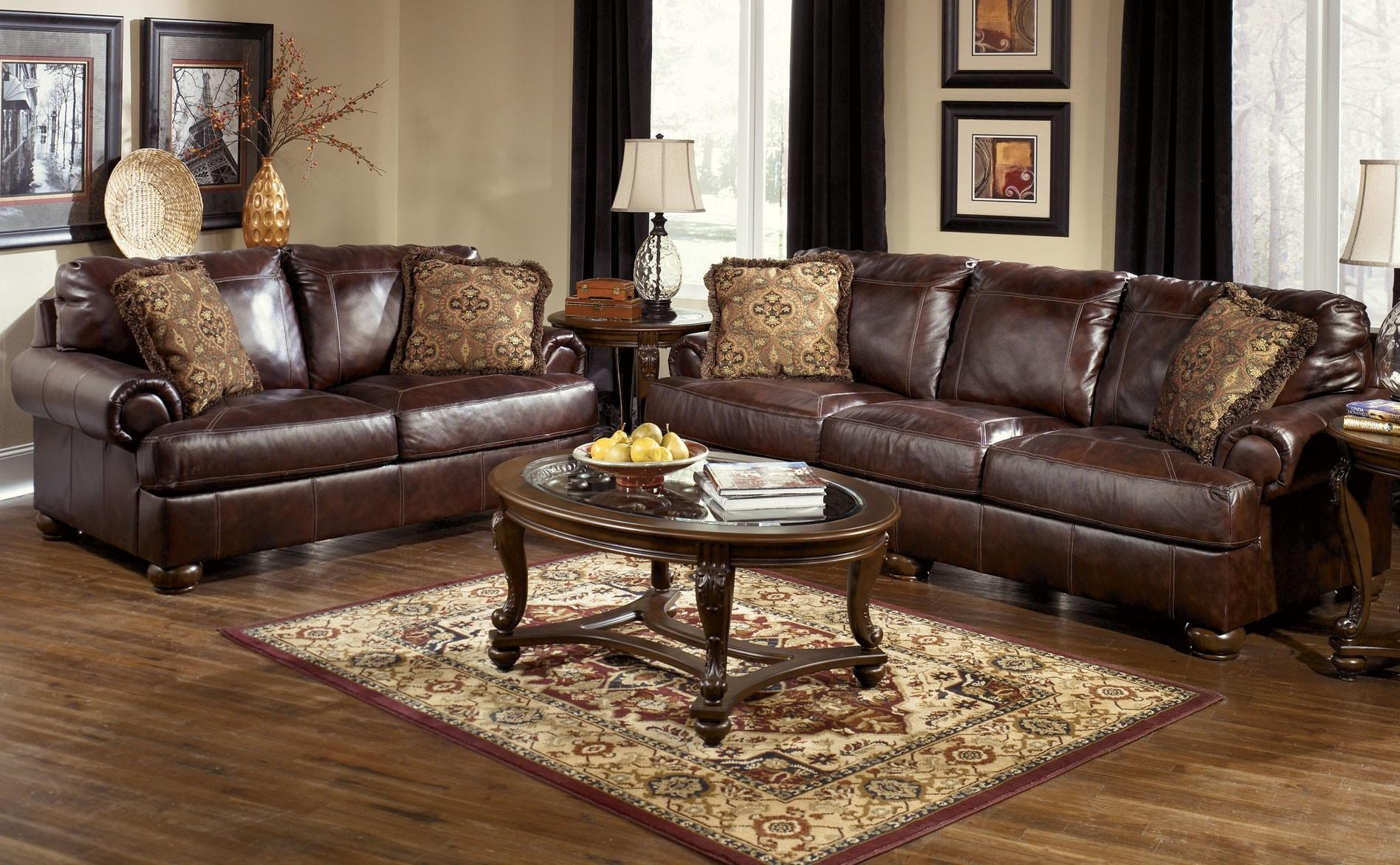 Furniture: How To Make Your Living Room Cozy With Full Grain With Full Grain Leather Sofas (View 8 of 20)
