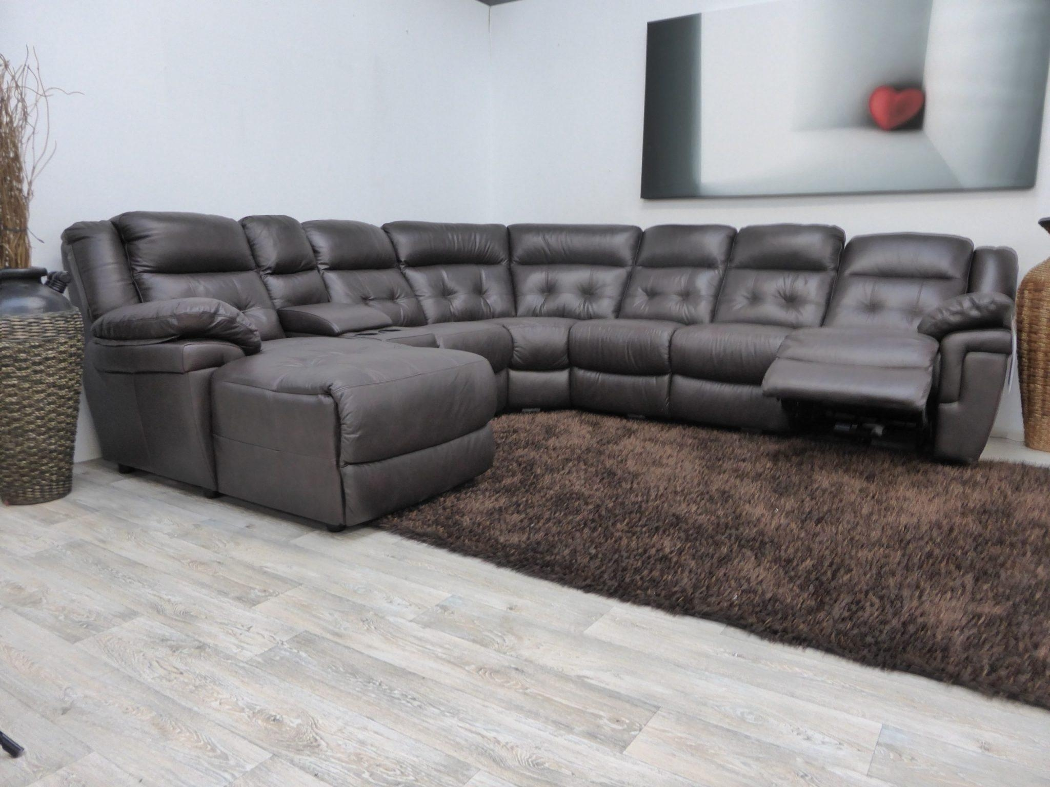 Furniture: Impressive Lazy Boy Sectional For Living Room Furniture With Regard To Lazy Boy Leather Sectional (Image 7 of 20)