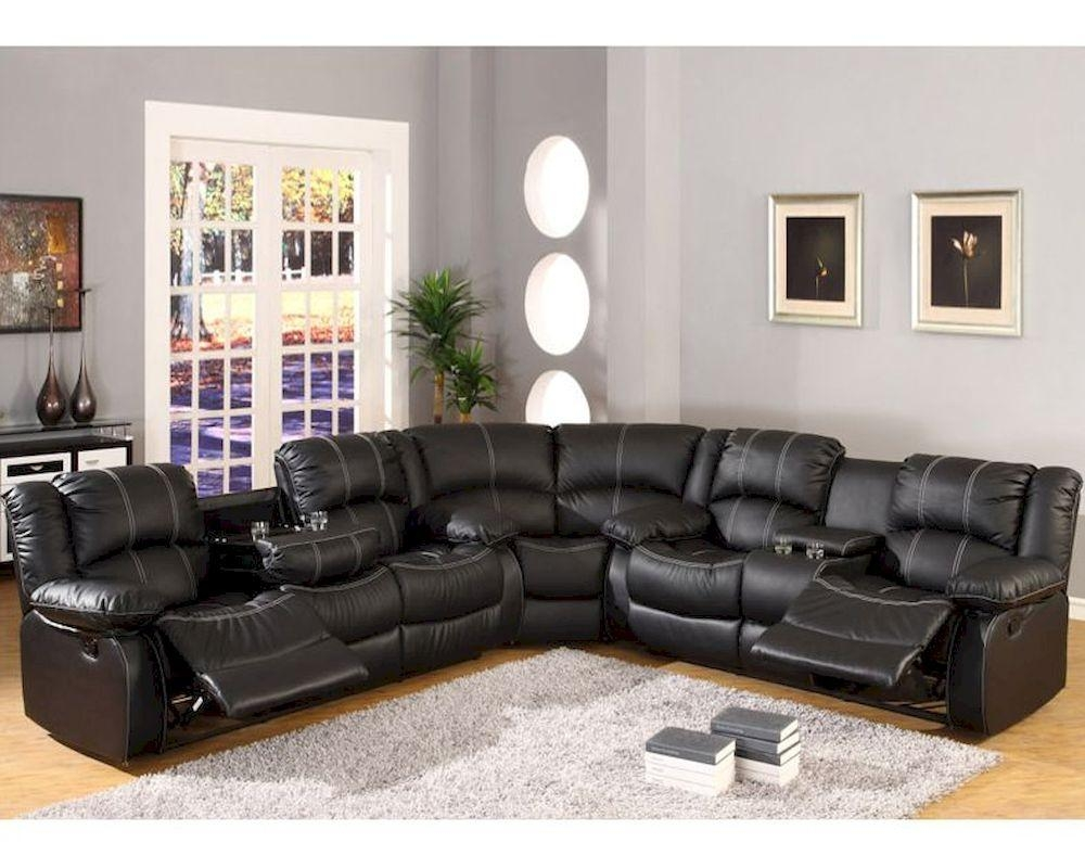 Furniture: Incredible Style Sectional Reclining Sofas For Your Pertaining To Sectional With Cup Holders (Image 5 of 20)