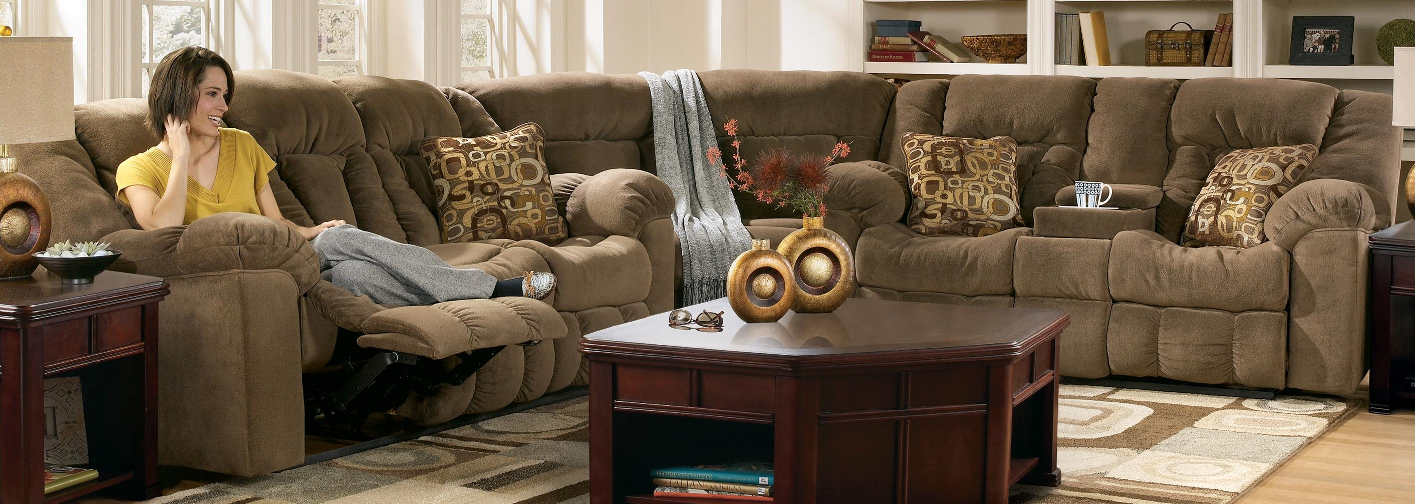 Furniture: Incredible Style Sectional Reclining Sofas For Your Throughout Sectional With Recliner And Sleeper (Image 9 of 20)