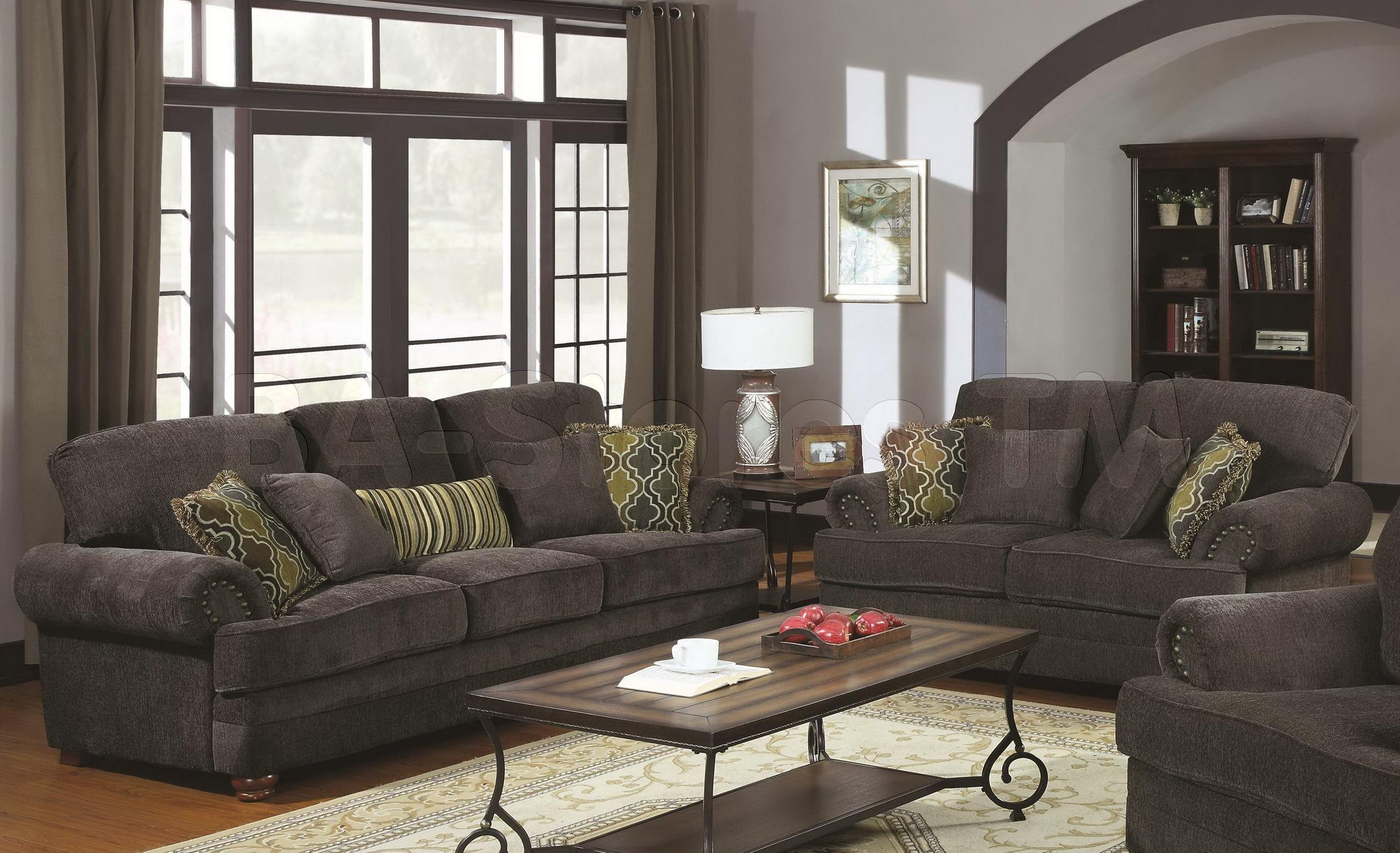 Furniture: Interesting Great Grey Loveseat With Fascinating Aura Regarding Sofa Loveseat And Chairs (Image 12 of 20)