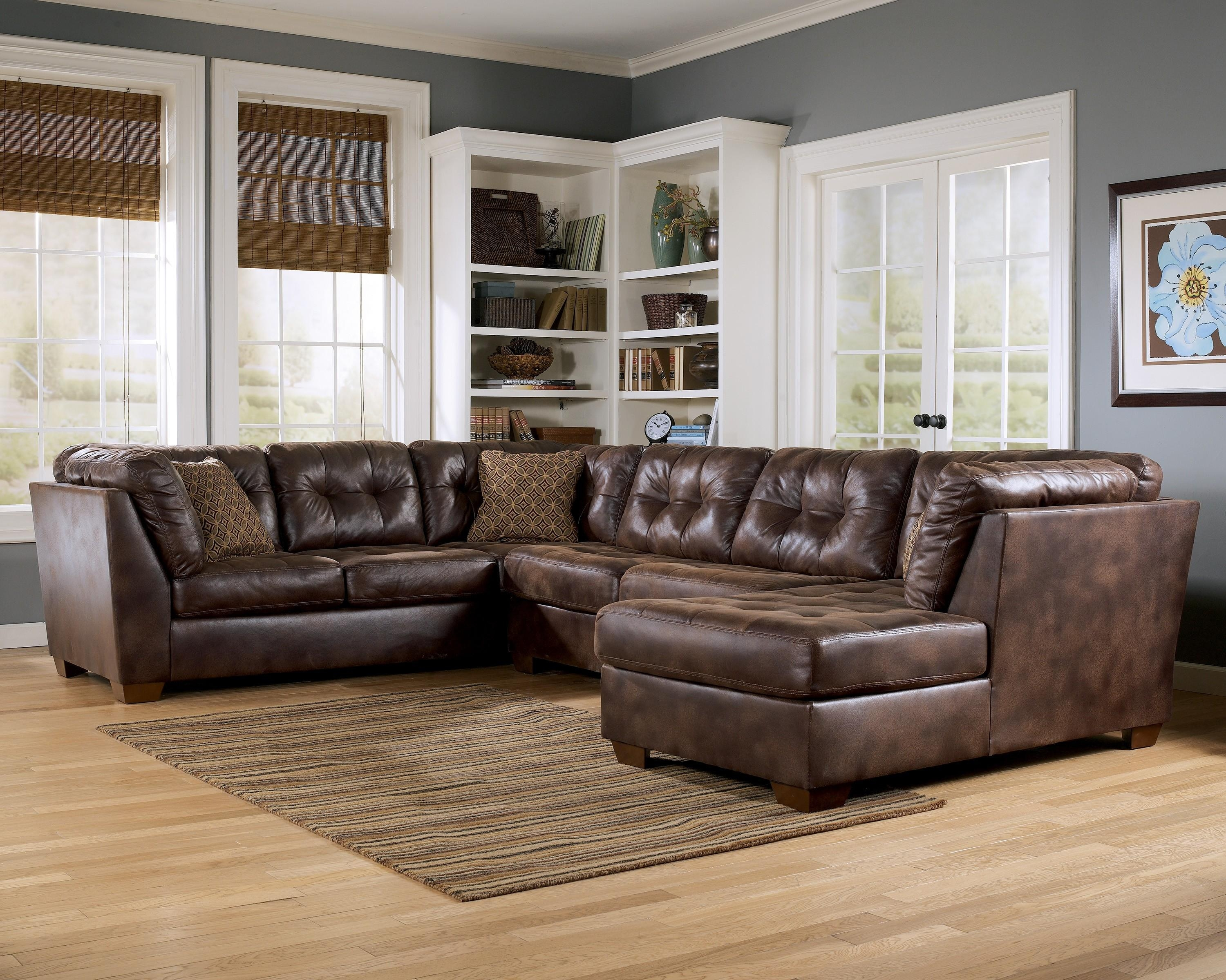 Furniture: Interesting Living Room Interior Using Large Sectional Pertaining To Chocolate Brown Sectional With Chaise (Image 9 of 15)