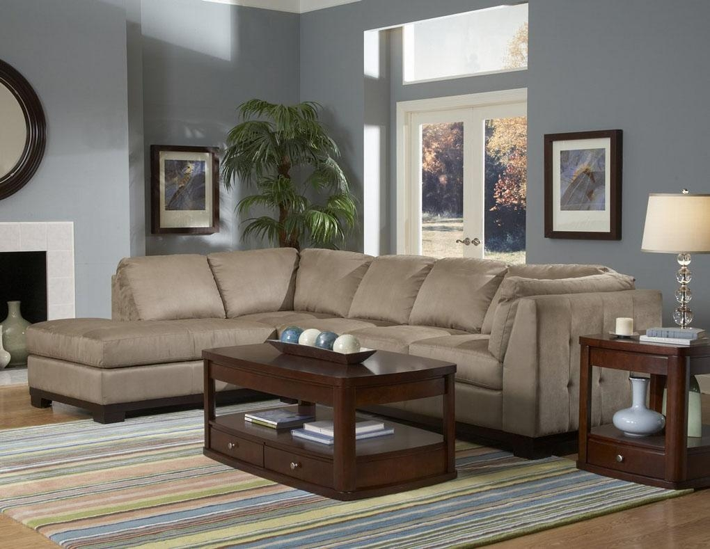 Furniture: Interesting Microfiber Sectional For Living Room For Microfiber Suede Sectional (Image 8 of 20)