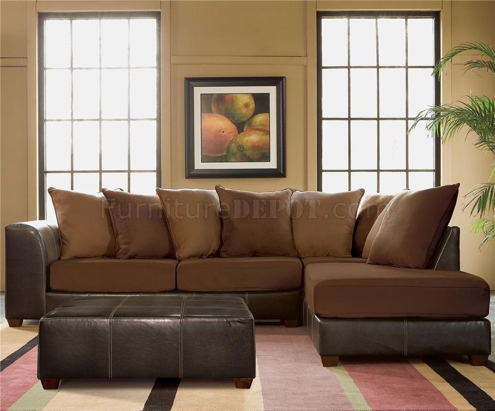 Furniture: Interesting Microfiber Sectional For Living Room Pertaining To Chocolate Brown Sectional With Chaise (Image 10 of 15)