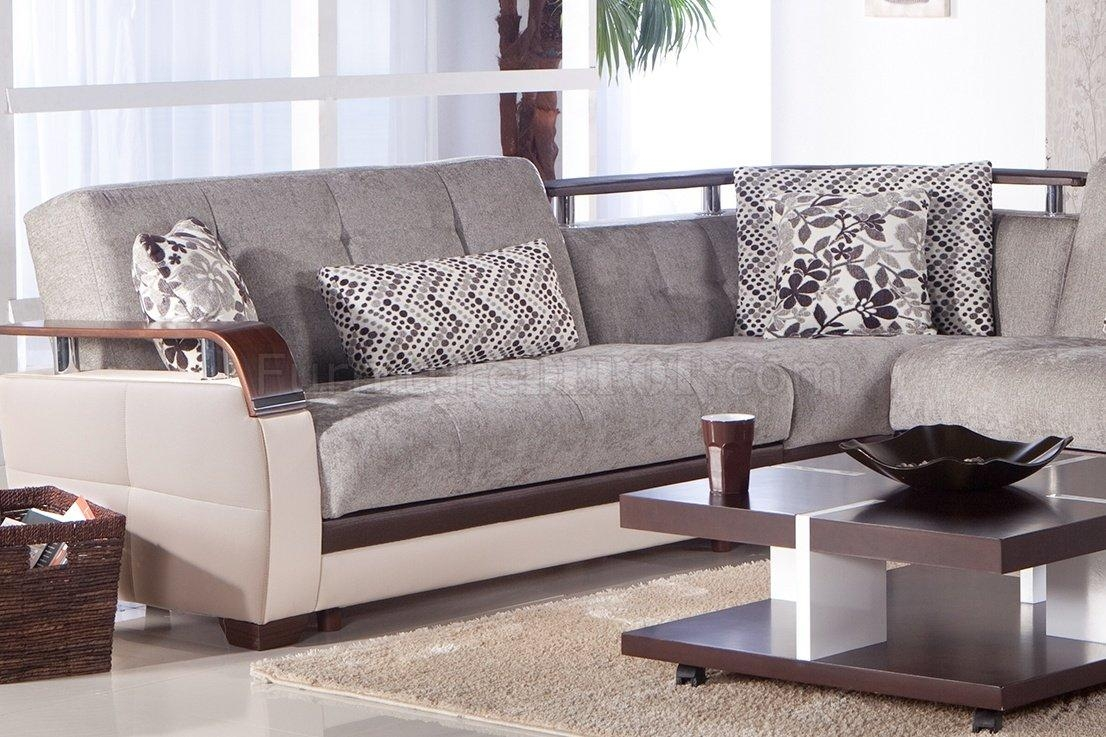 Furniture: Interesting Microfiber Sectional For Living Room Throughout Microsuede Sleeper Sofas (Image 5 of 20)