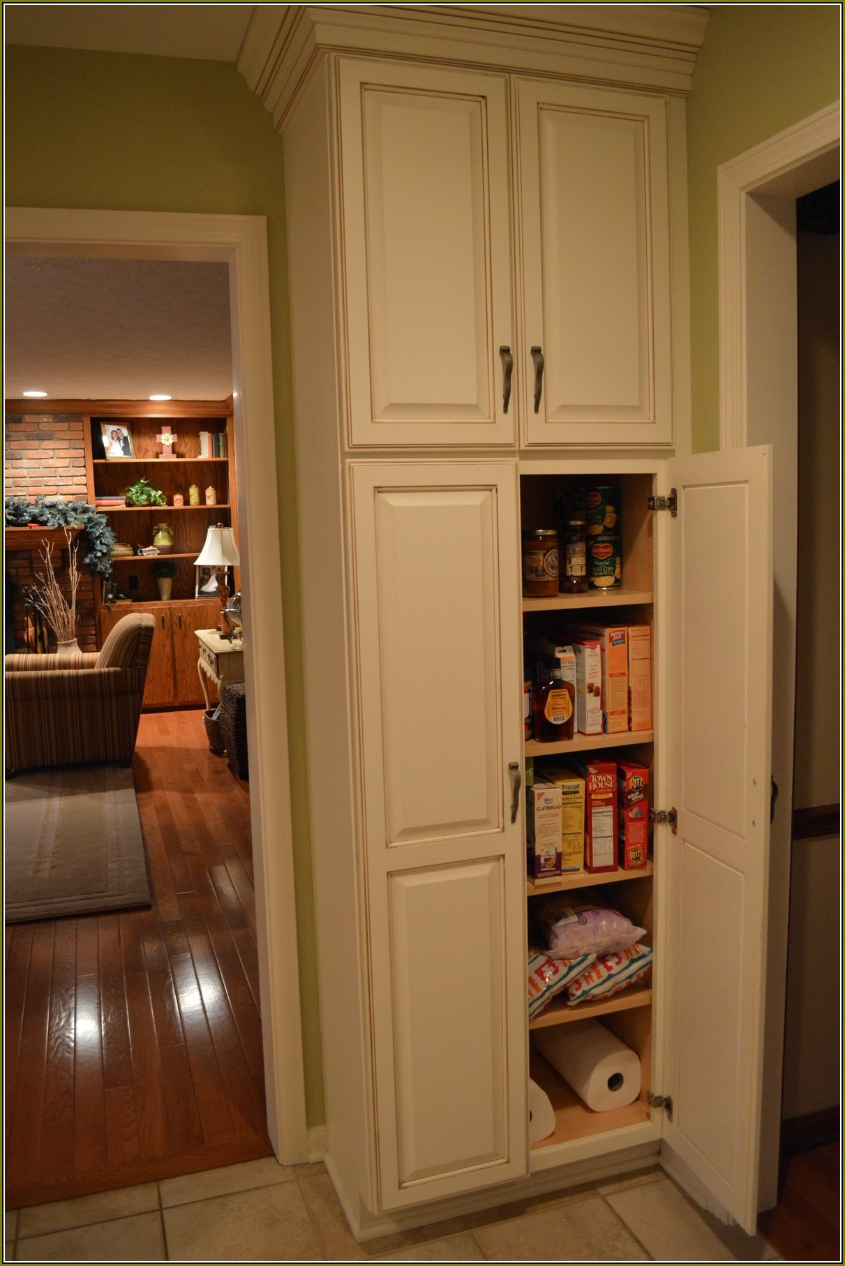 Furniture: Kitchen Cabinets Corner Pantry | Unfinished Shaker Inside Pantry Cabinets To Utilize Your Kitchen (Image 8 of 17)